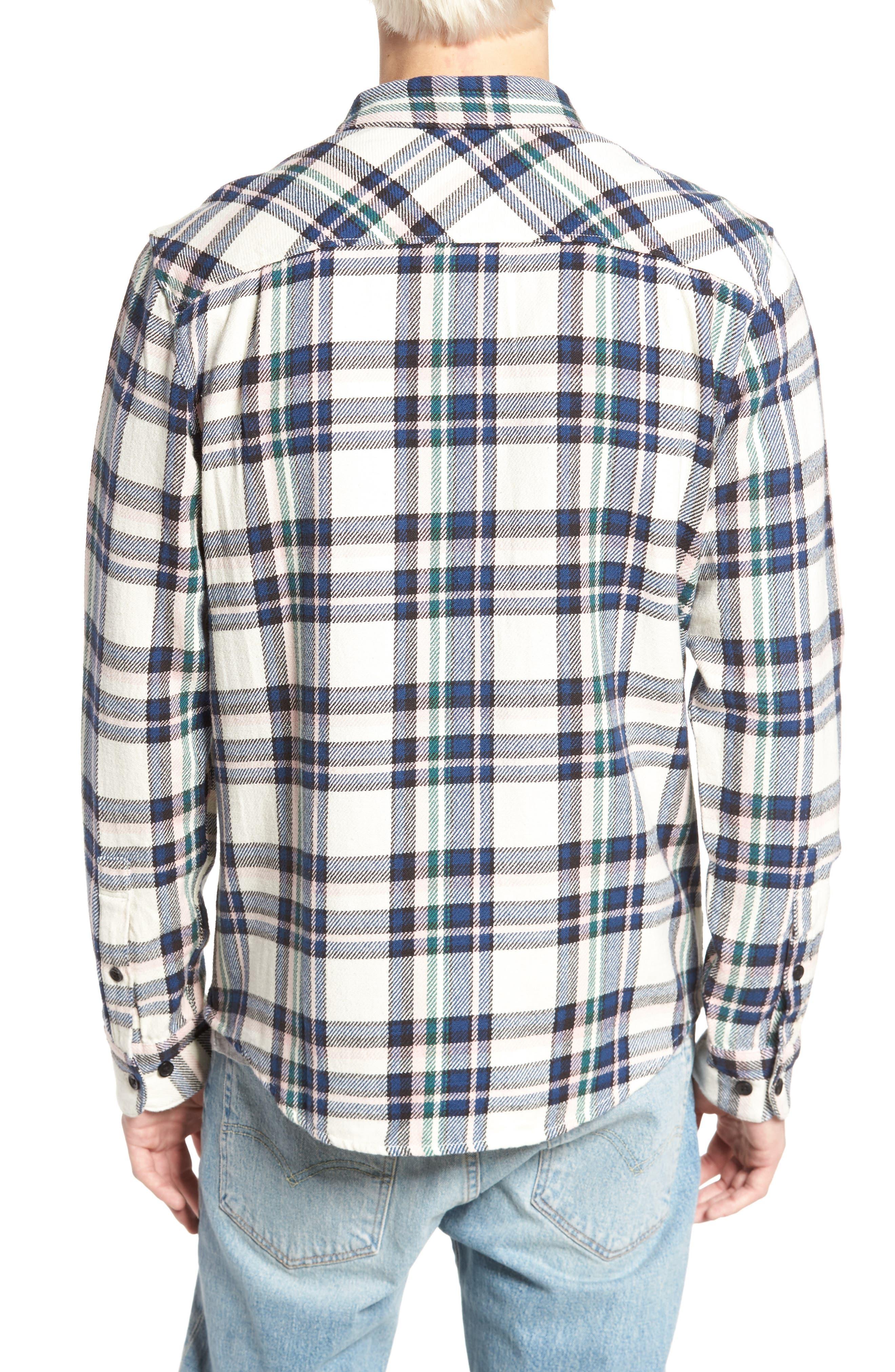 Camino Flannel Shirt,                             Alternate thumbnail 2, color,                             Multi Beige