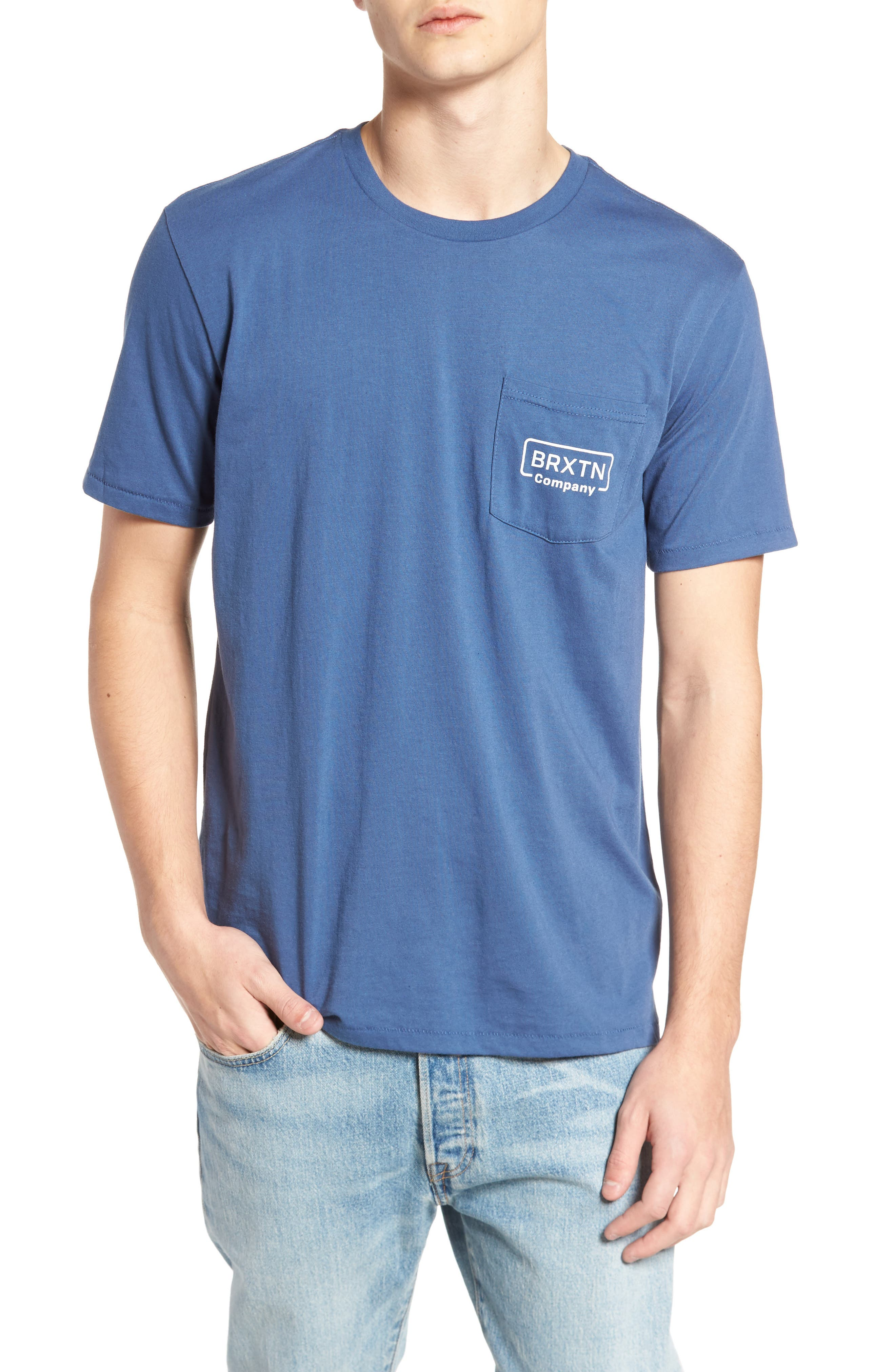Brixton Crosswhite Pocket T-Shirt