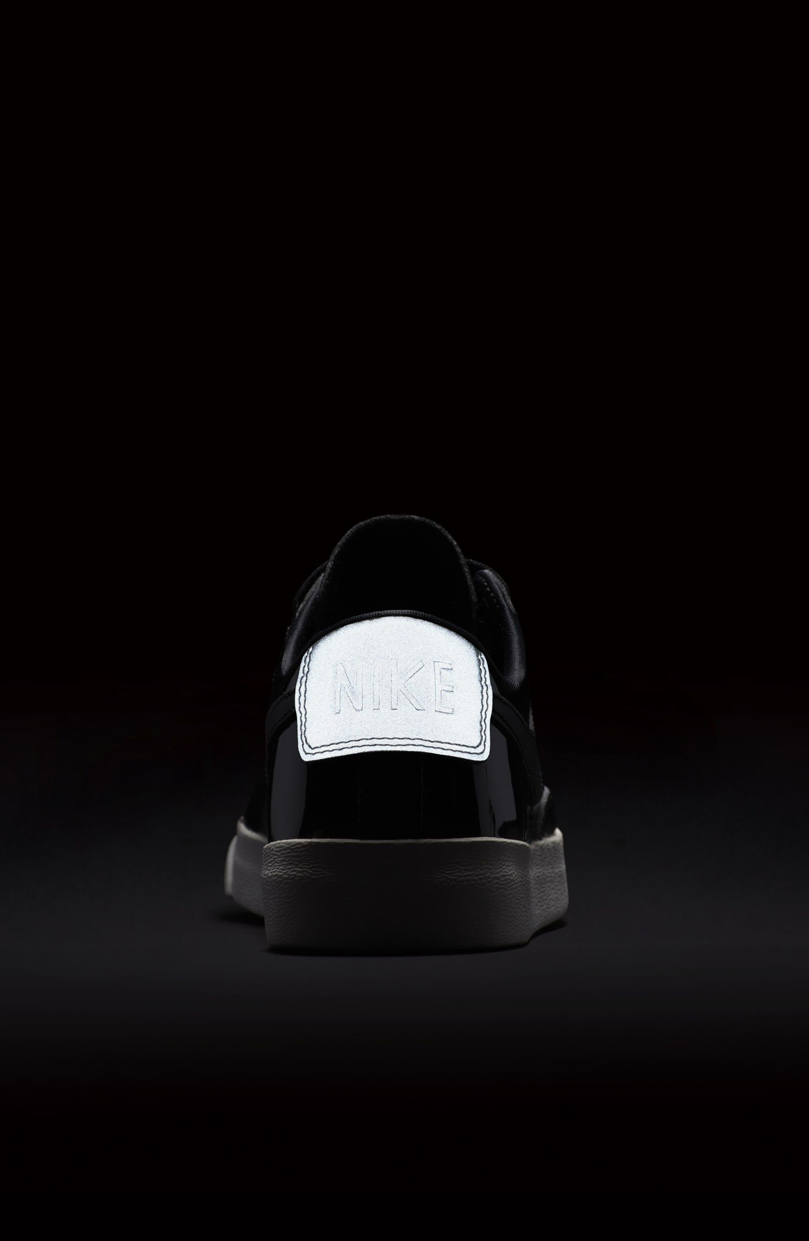 Blazer Low Top Sneaker SE,                             Alternate thumbnail 8, color,                             Black/ Black Reflect Silver