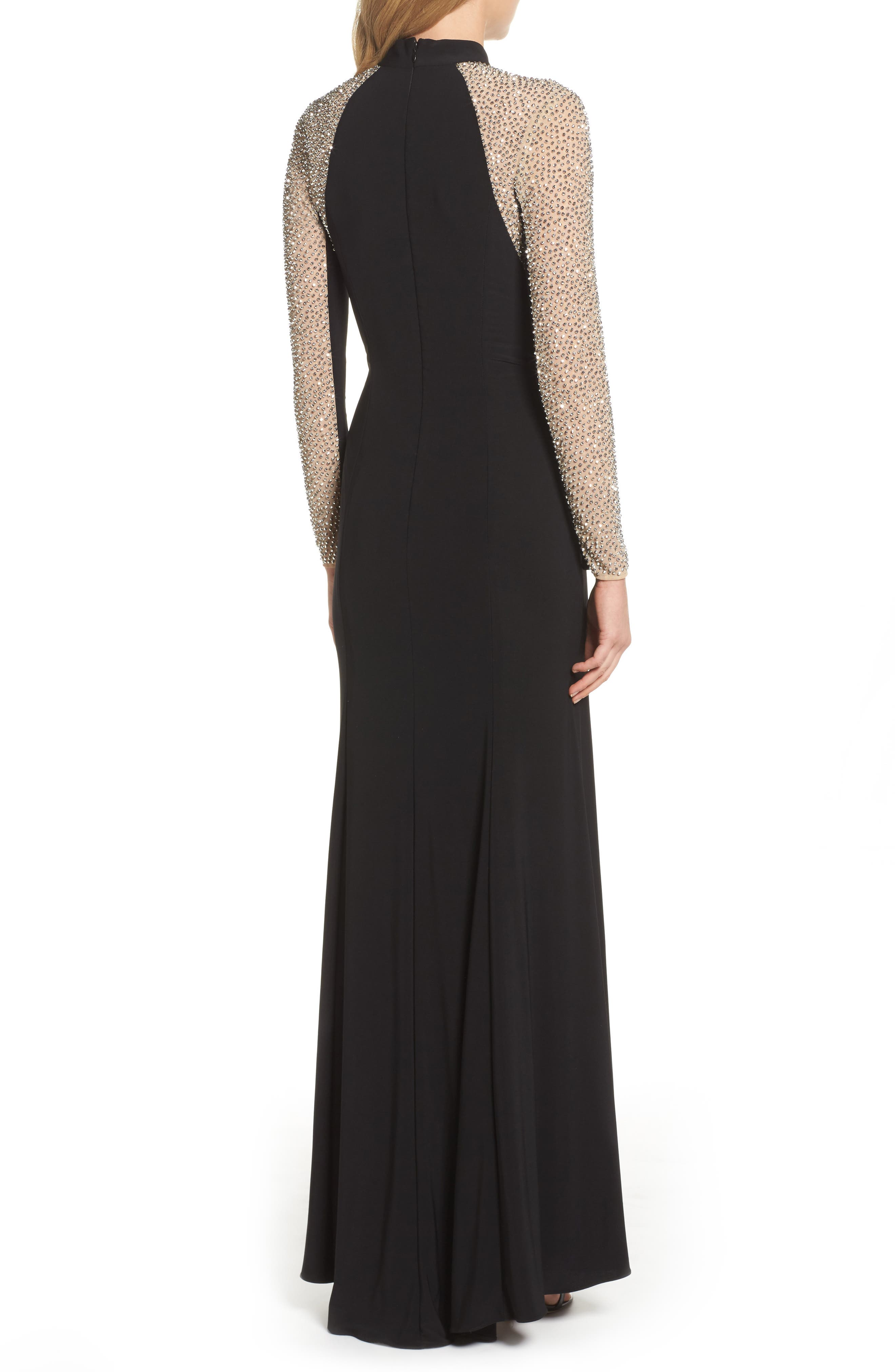Alternate Image 2  - Xscape Beaded Choker Neck Gown