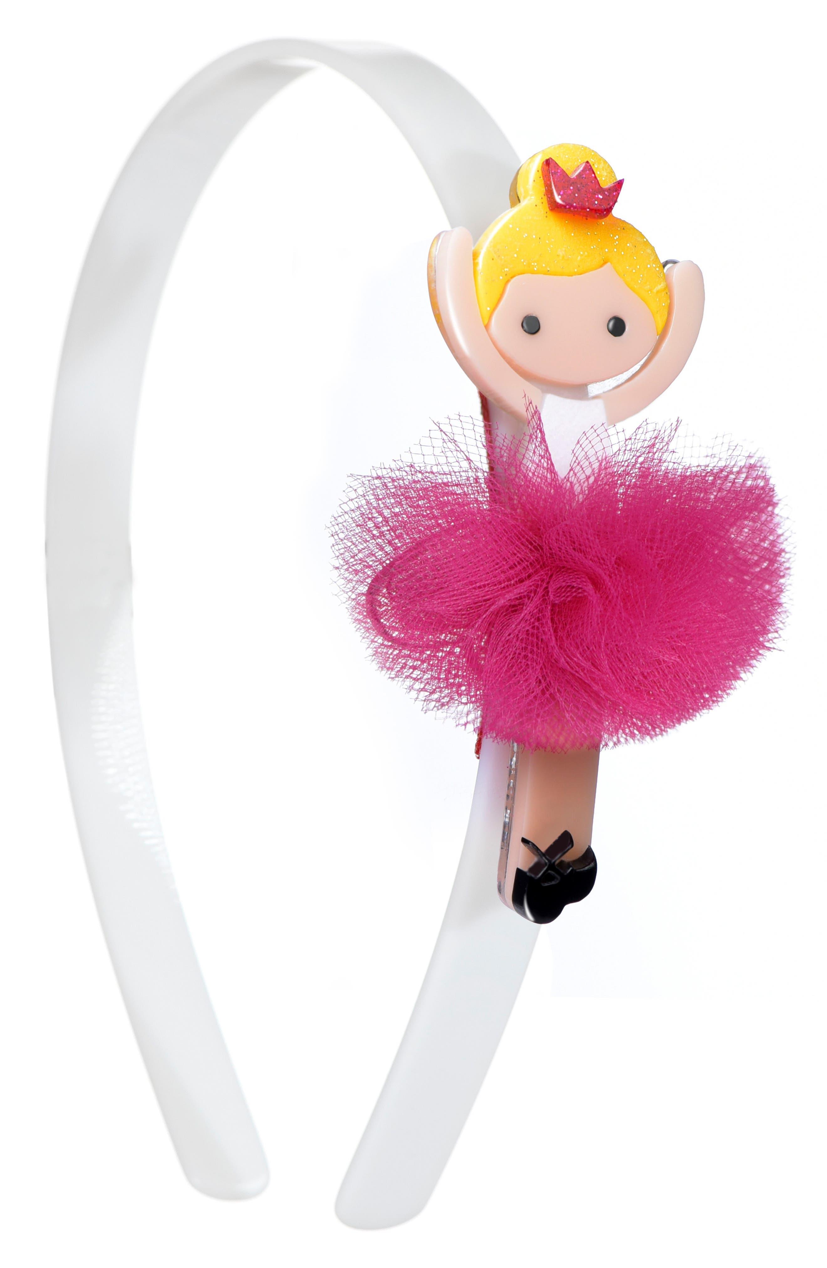 Lilies & Roses NY Ballerina Headband,                             Main thumbnail 1, color,                             Pink