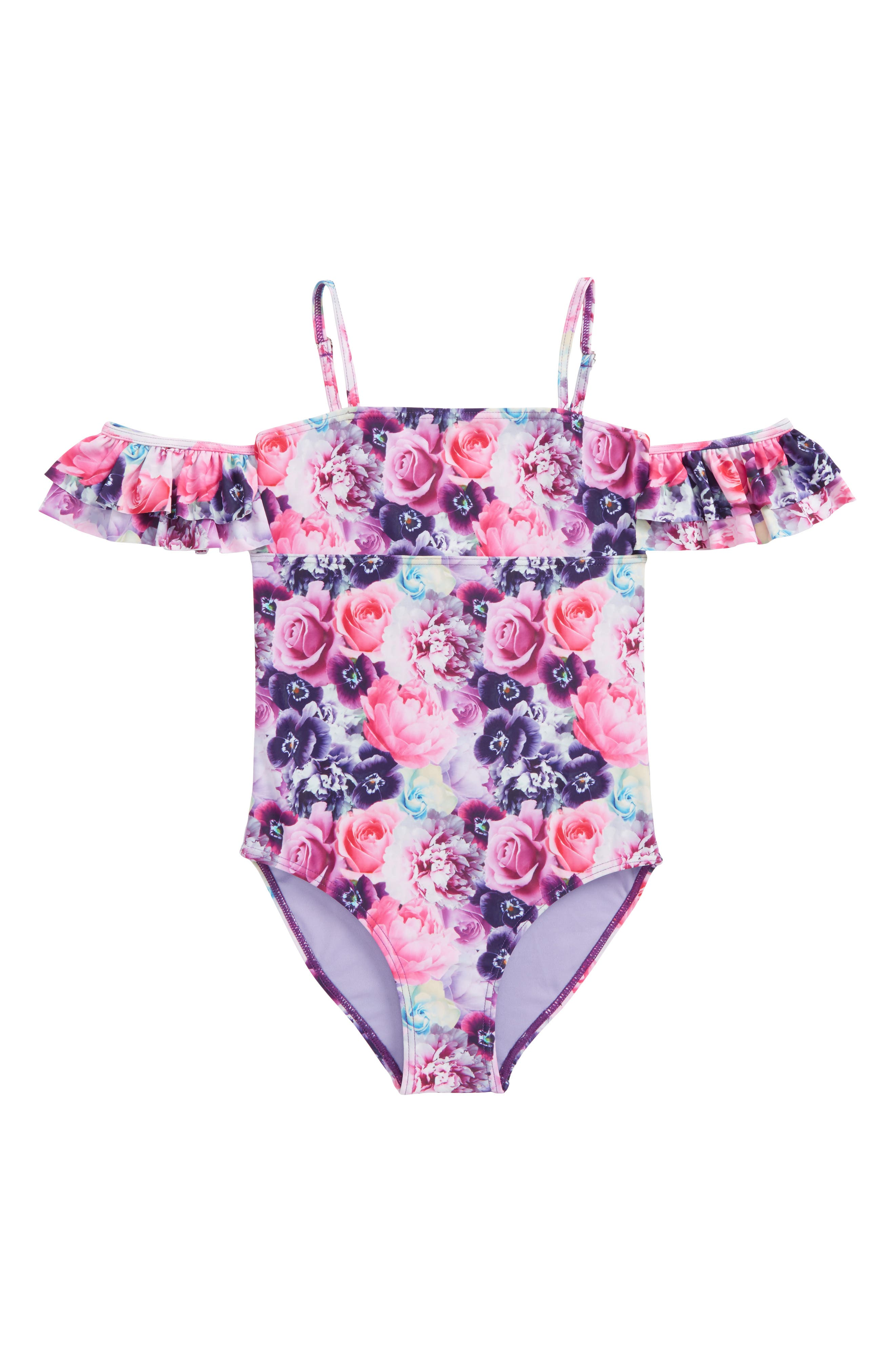 Glam Squad One-Piece Swimsuit,                             Main thumbnail 1, color,                             Multi Combo