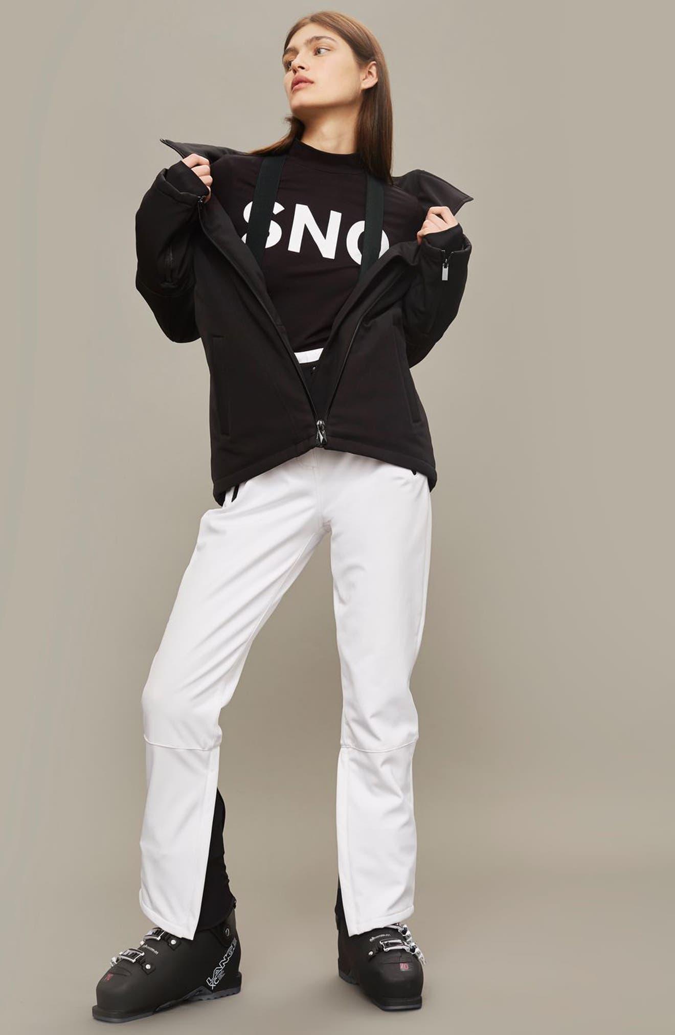 SNO Gladiator Faux Fur Hood Puffer Jacket,                             Alternate thumbnail 3, color,                             Black