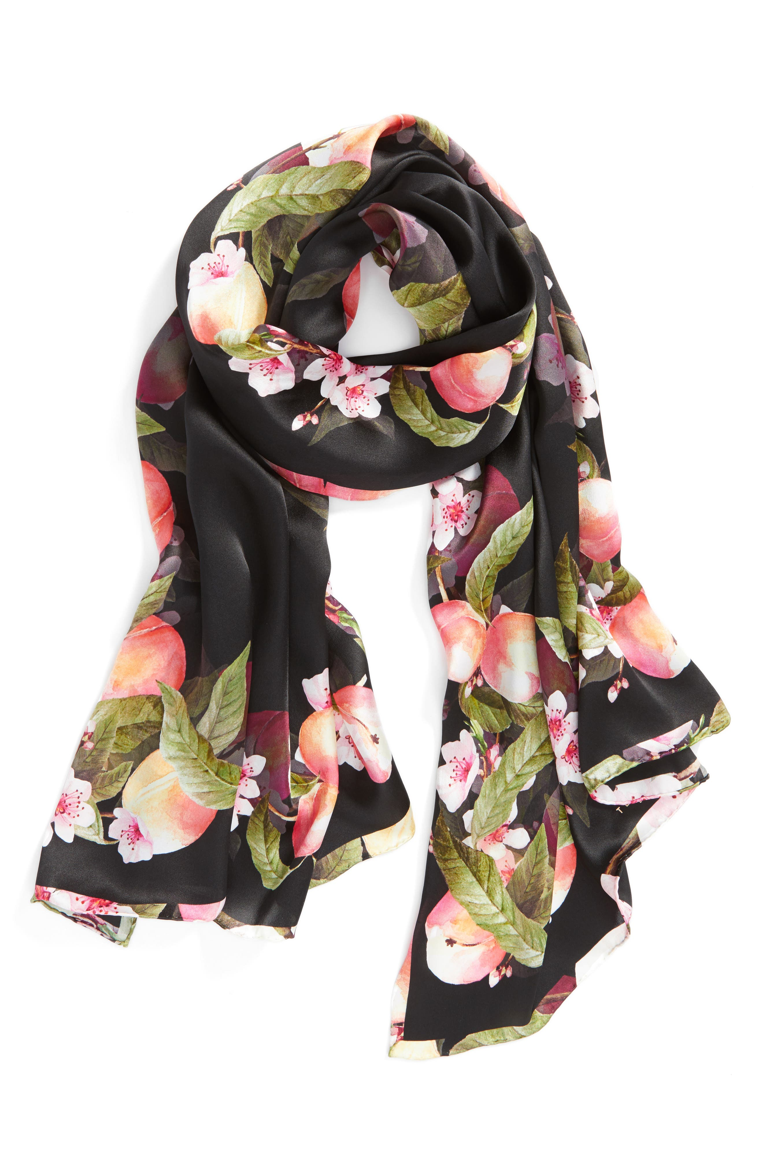 Alternate Image 3  - Ted Baker London Peach Blossom Silk Scarf