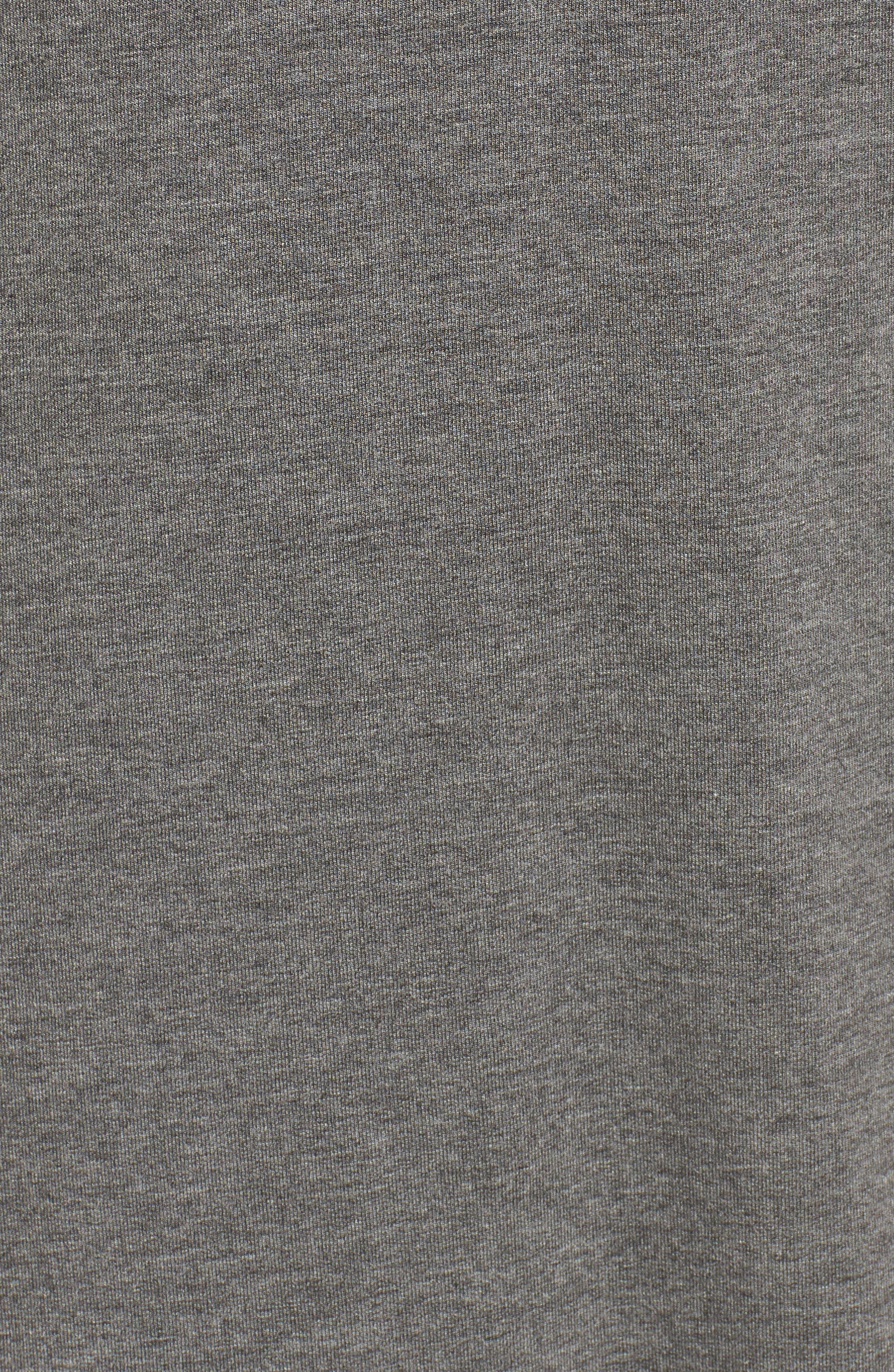 Celerina Lace-Up Minidress,                             Alternate thumbnail 5, color,                             Med Heather Grey