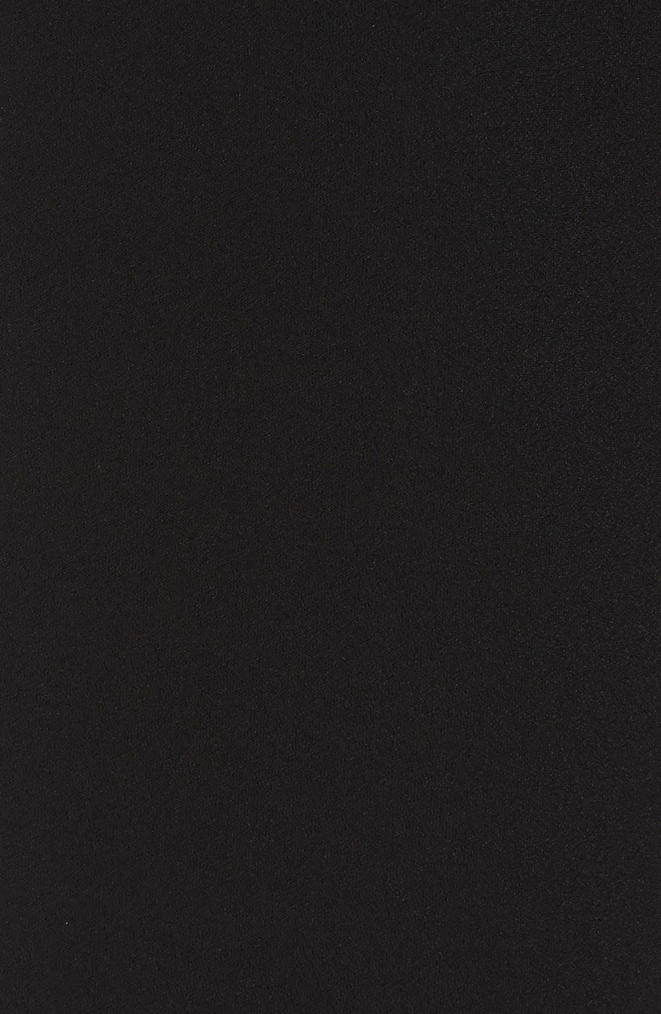 Belted Wide Leg Crop Pants,                             Alternate thumbnail 8, color,                             Black