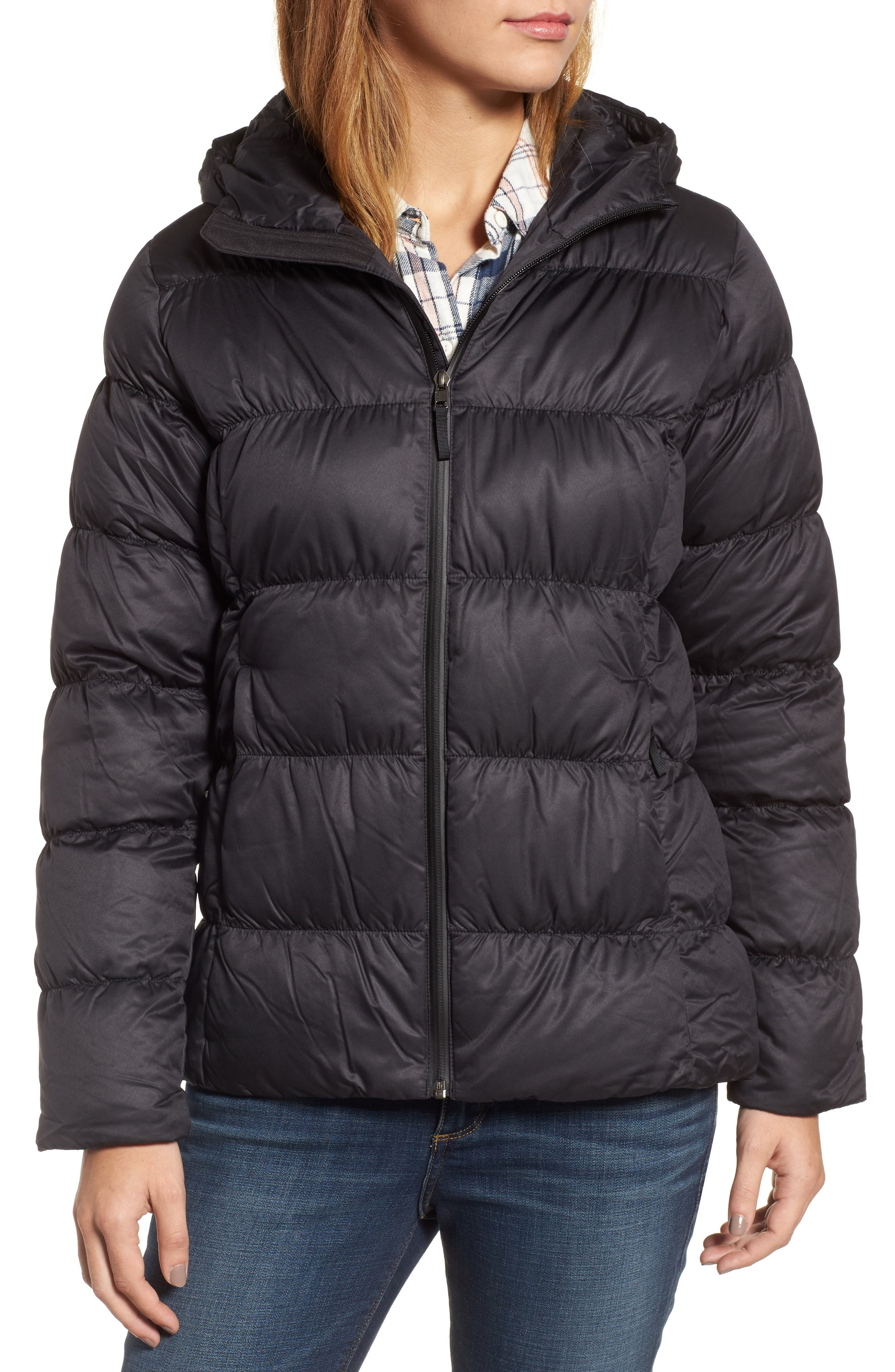 Downtown Waterproof 600-Fill Power Down Jacket,                             Alternate thumbnail 4, color,                             Black