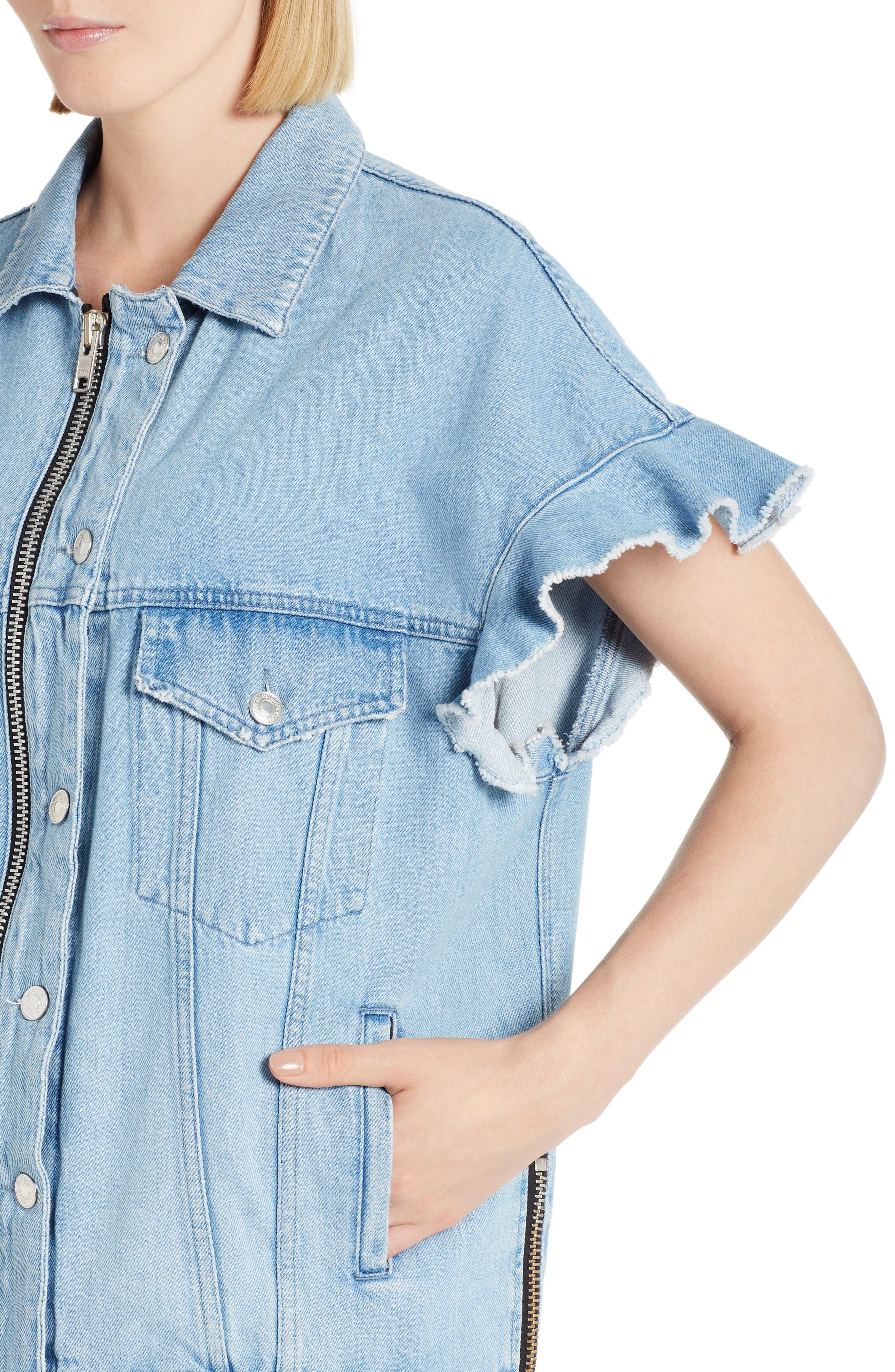 Alternate Image 3  - MSGM Zip Front Denim Jacket
