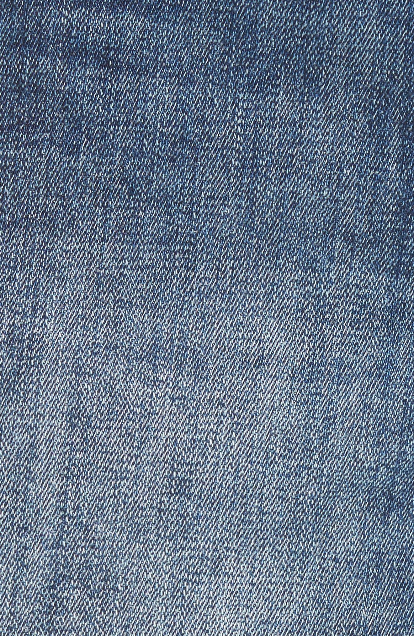 Karlie Cutoff Denim Boyfriend Shorts,                             Alternate thumbnail 5, color,                             Bluegrass
