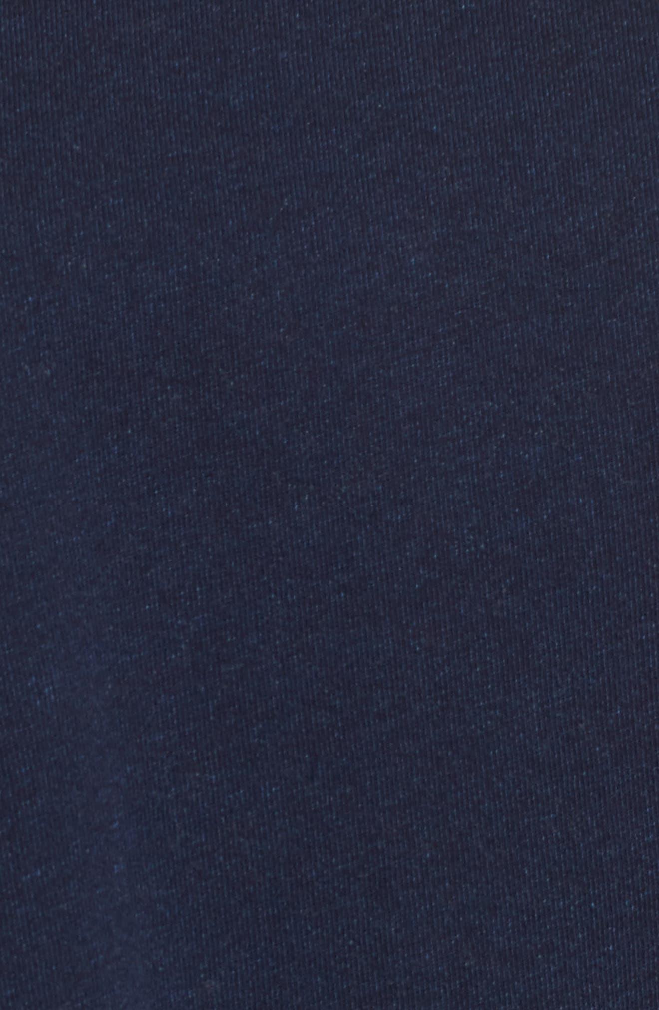 Pearl Ruffle Sweatshirt,                             Alternate thumbnail 5, color,                             Dark Indigo