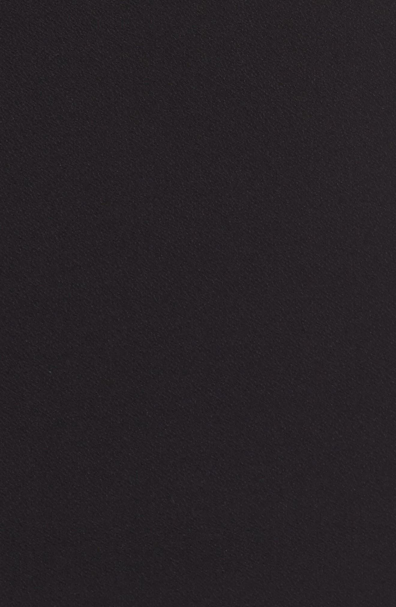 Cutout Shoulder Crepe Sheath Dress,                             Alternate thumbnail 5, color,                             Black