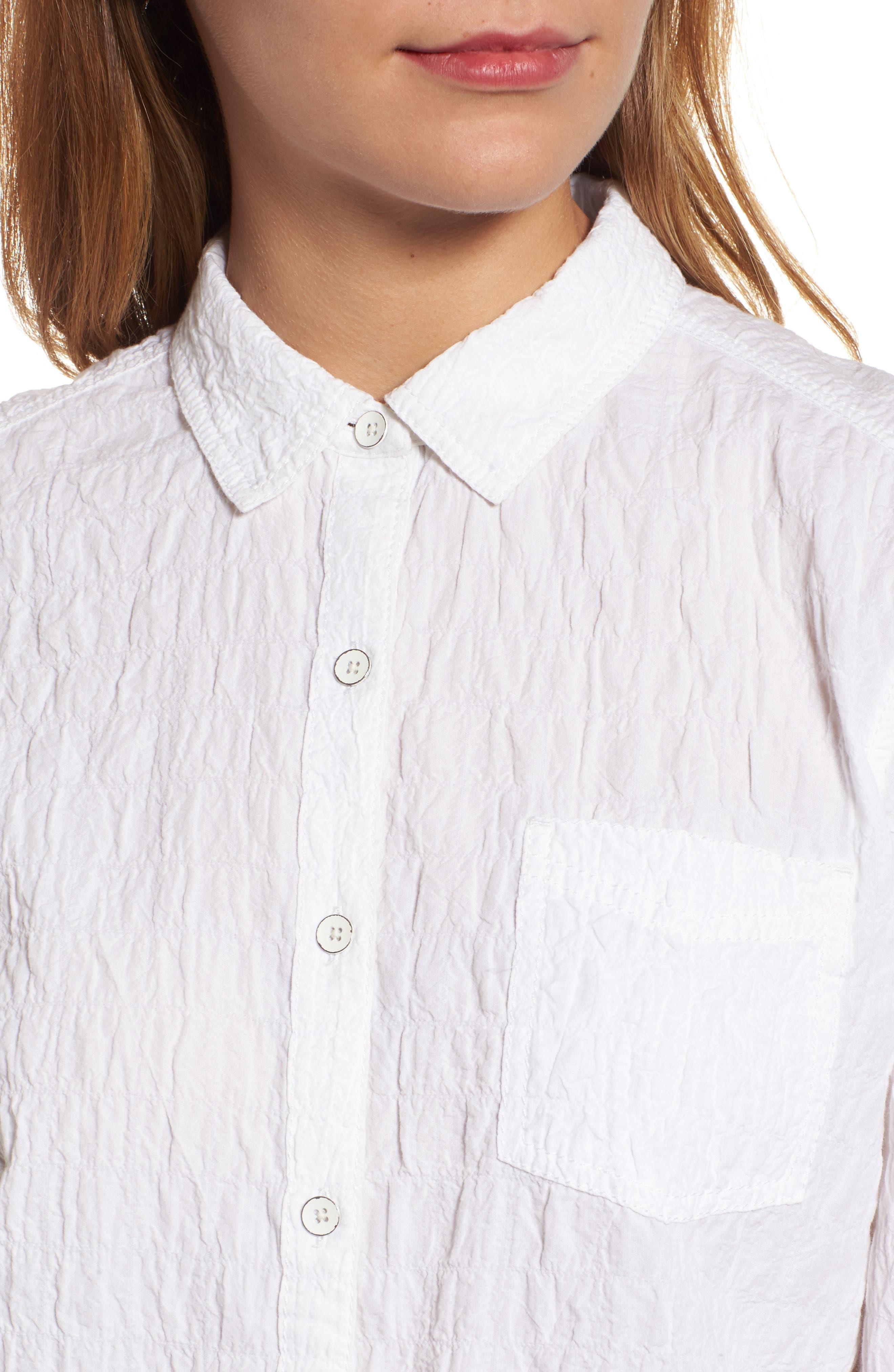 Button Up Shirt,                             Alternate thumbnail 4, color,                             White