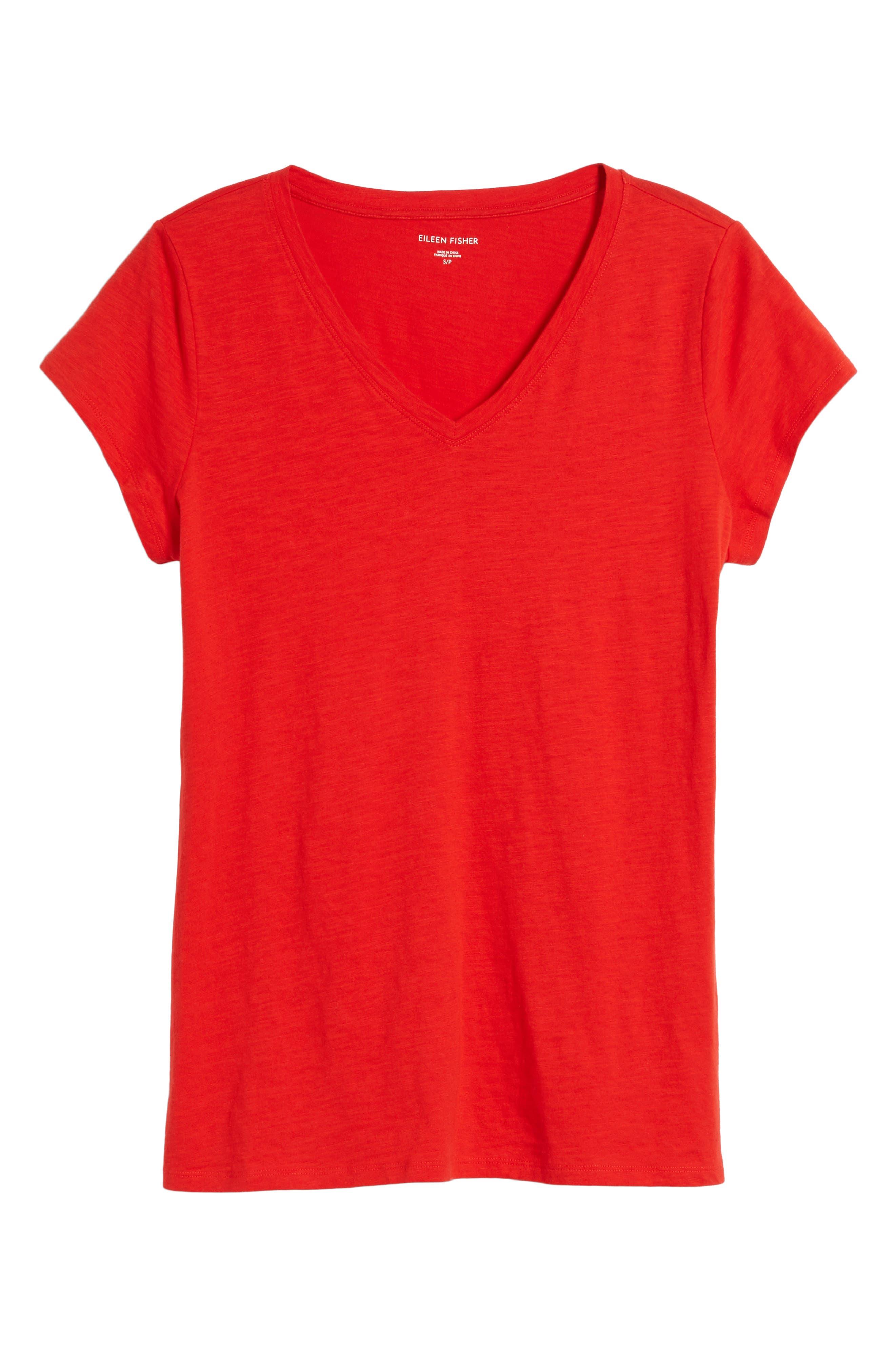 Alternate Image 5  - Eileen Fisher Organic Cotton V-Neck Tee (Regular & Petite) (Nordstrom Exclusive)