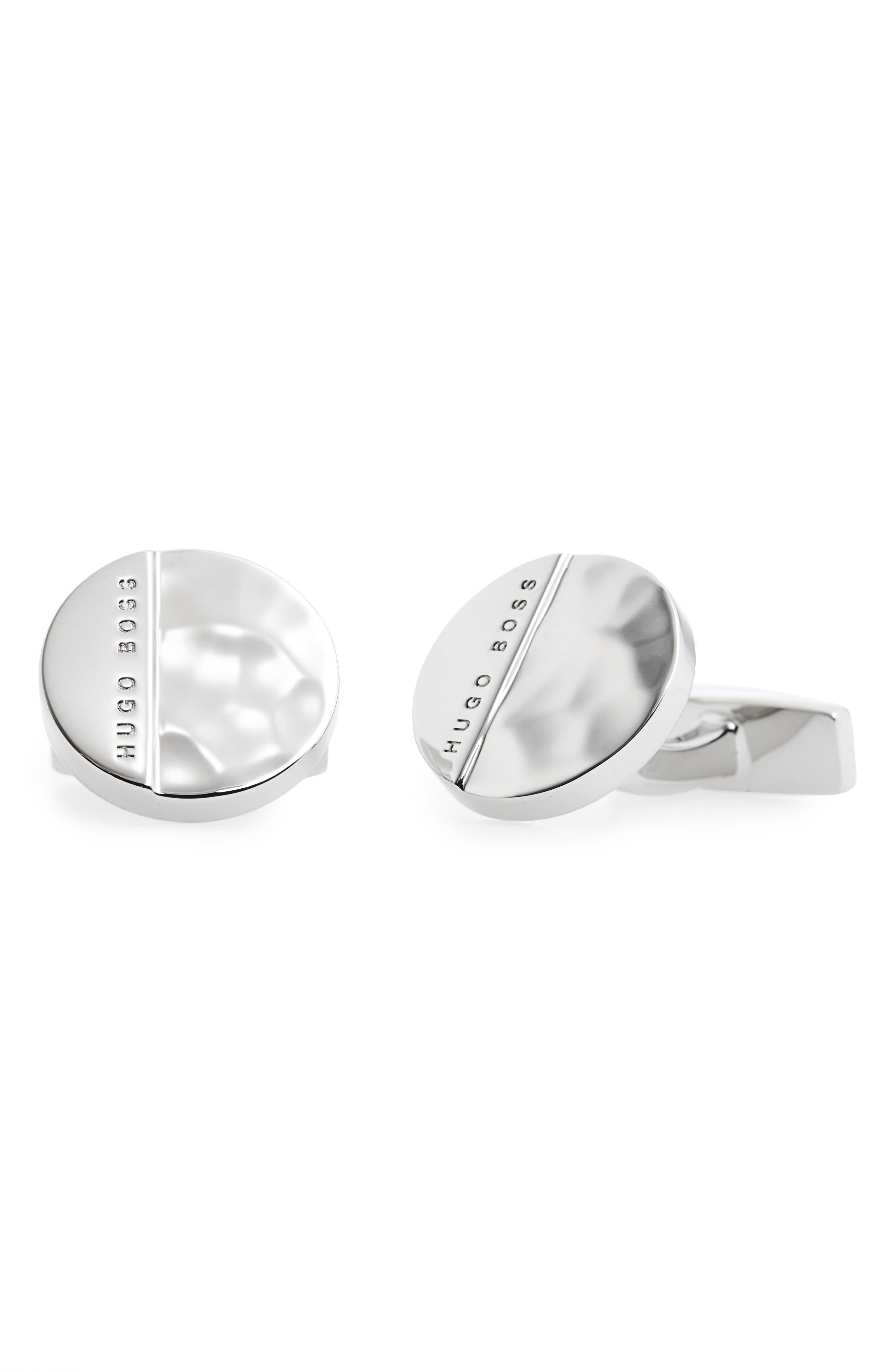 Albert Cuff Links,                         Main,                         color, Silver