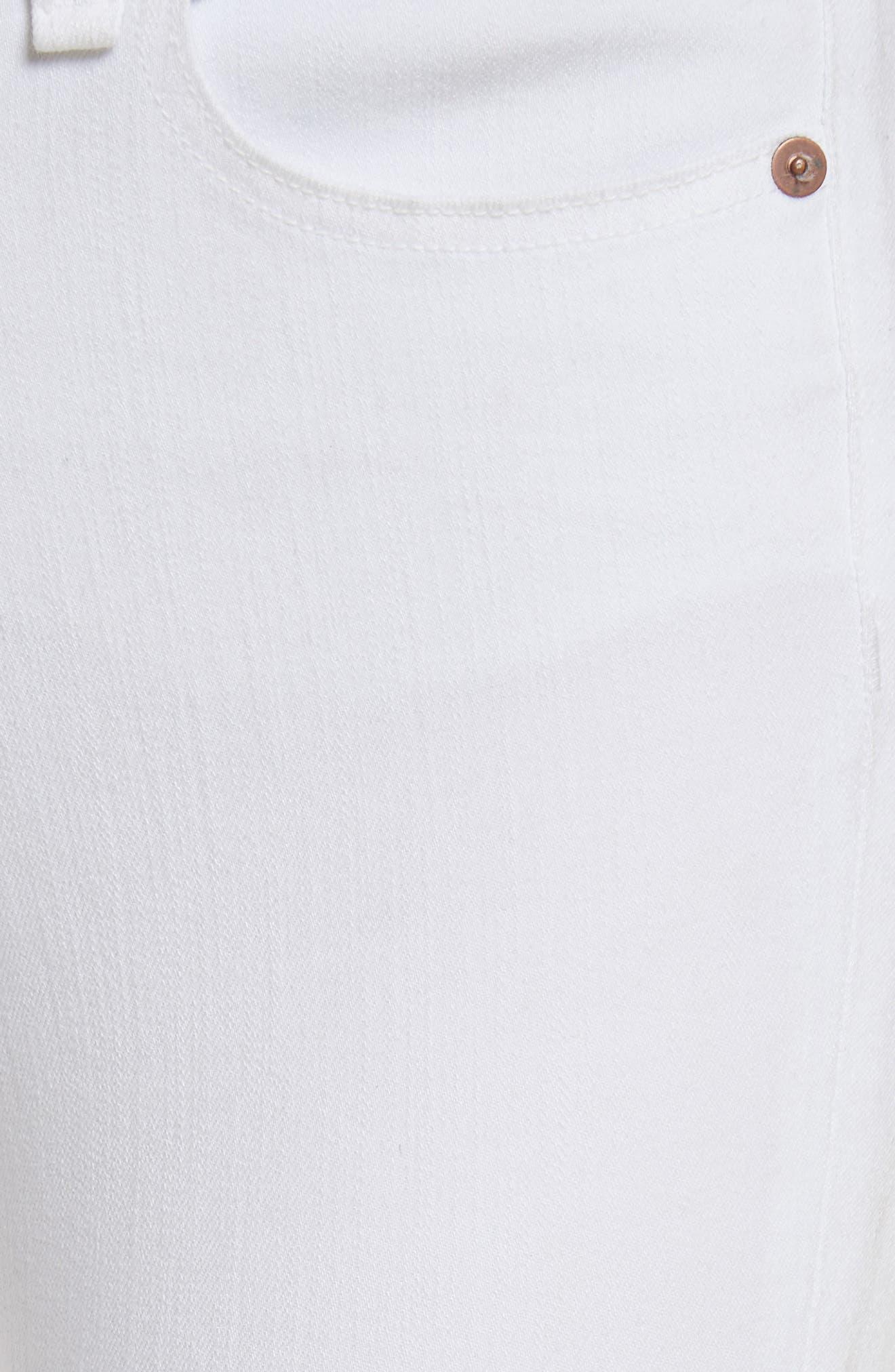 Kate Capri Jeans,                             Alternate thumbnail 5, color,                             White