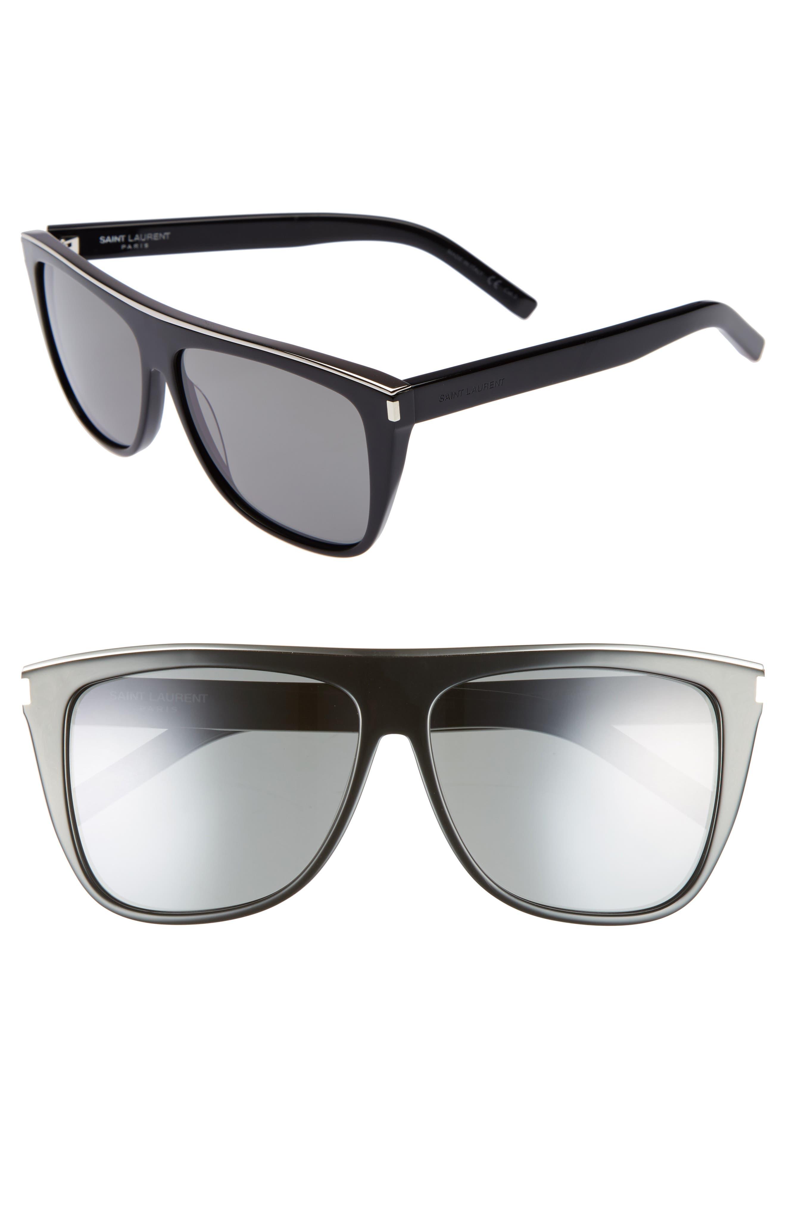 Combi 59mm Flat Top Sunglasses,                         Main,                         color, Black