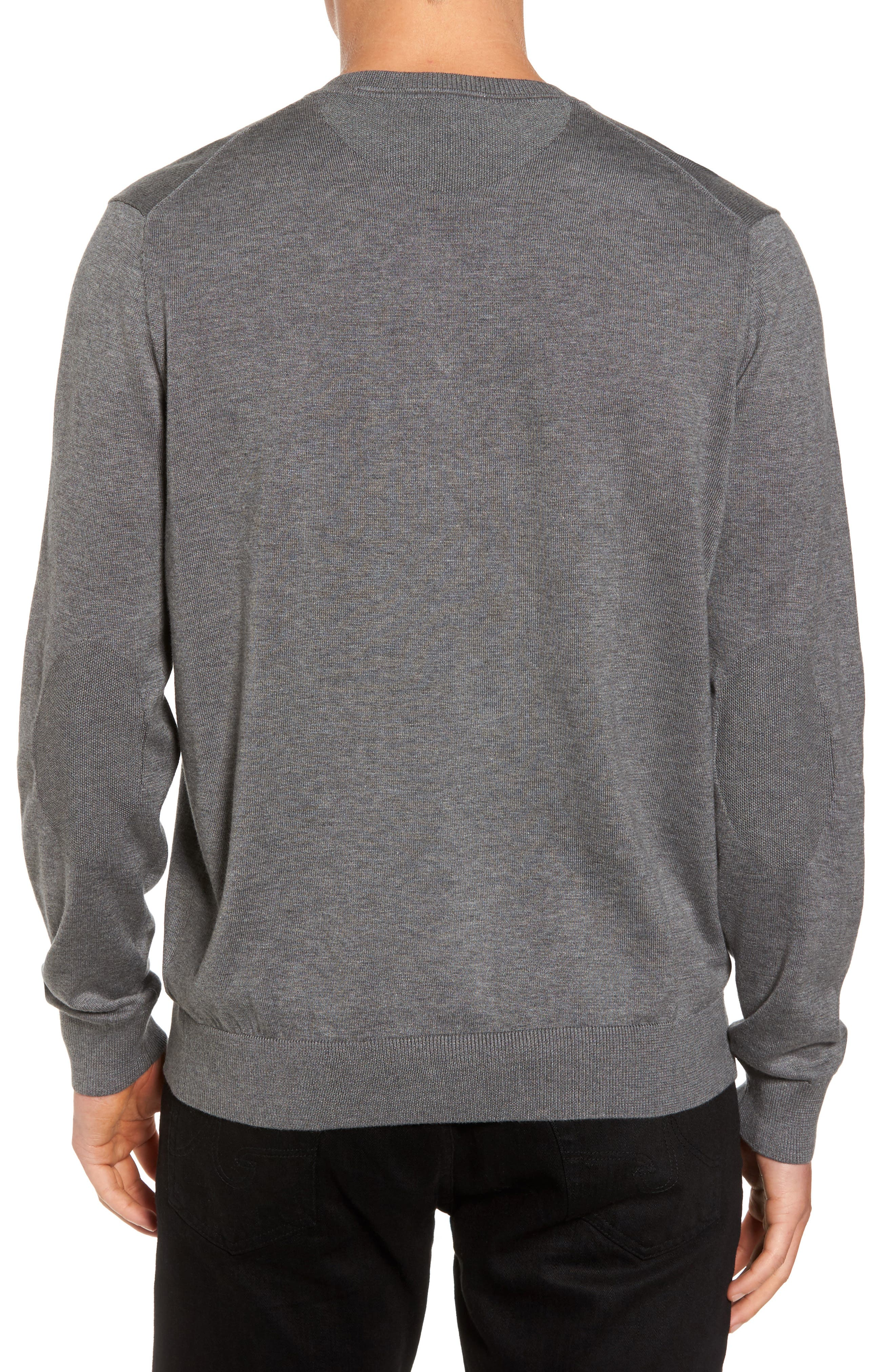 Cotton Jersey V-Neck Sweater,                             Alternate thumbnail 2, color,                             Galaxite