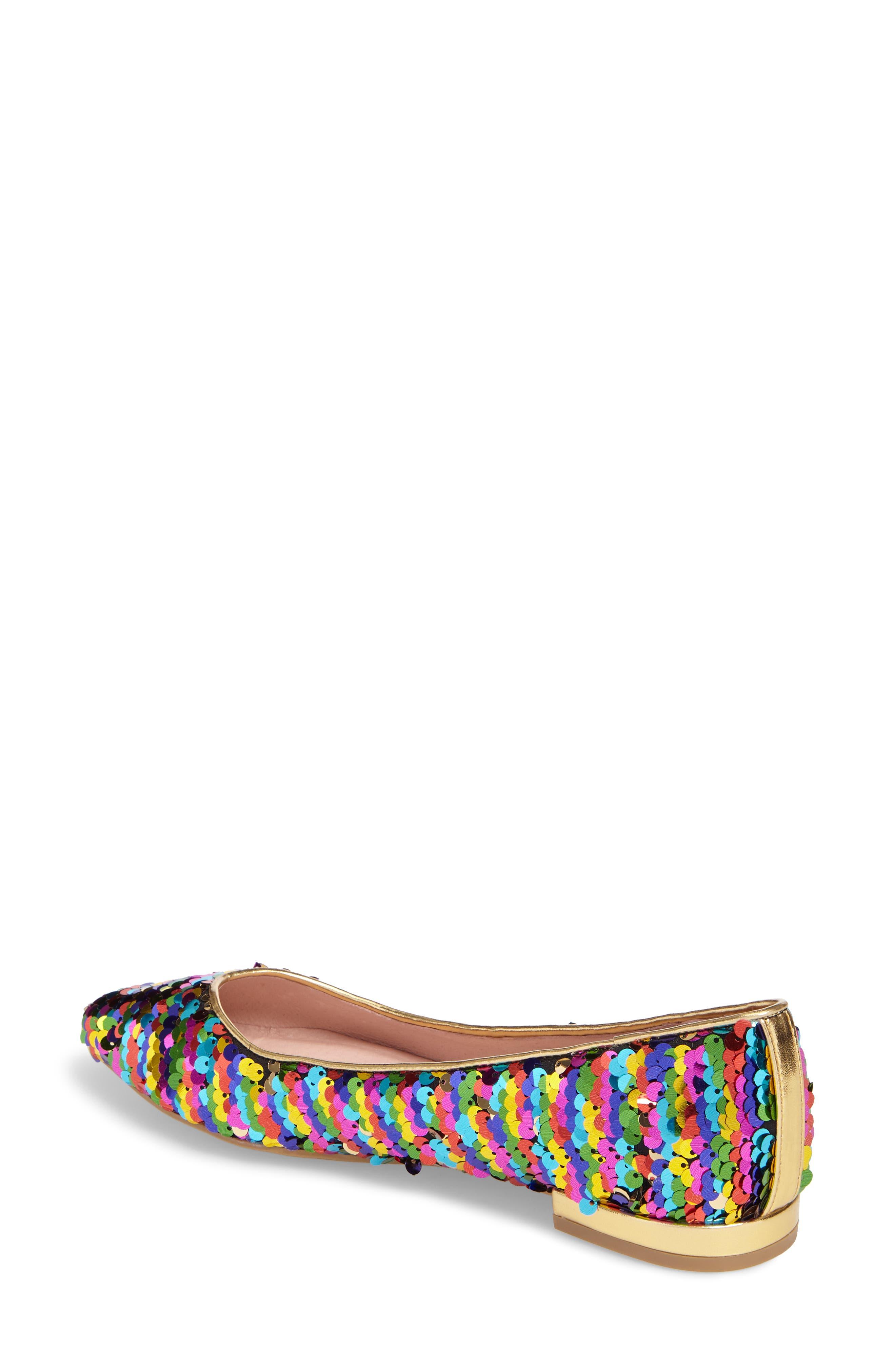 Gavin Pointy Toe Flat,                             Alternate thumbnail 2, color,                             Rainbow