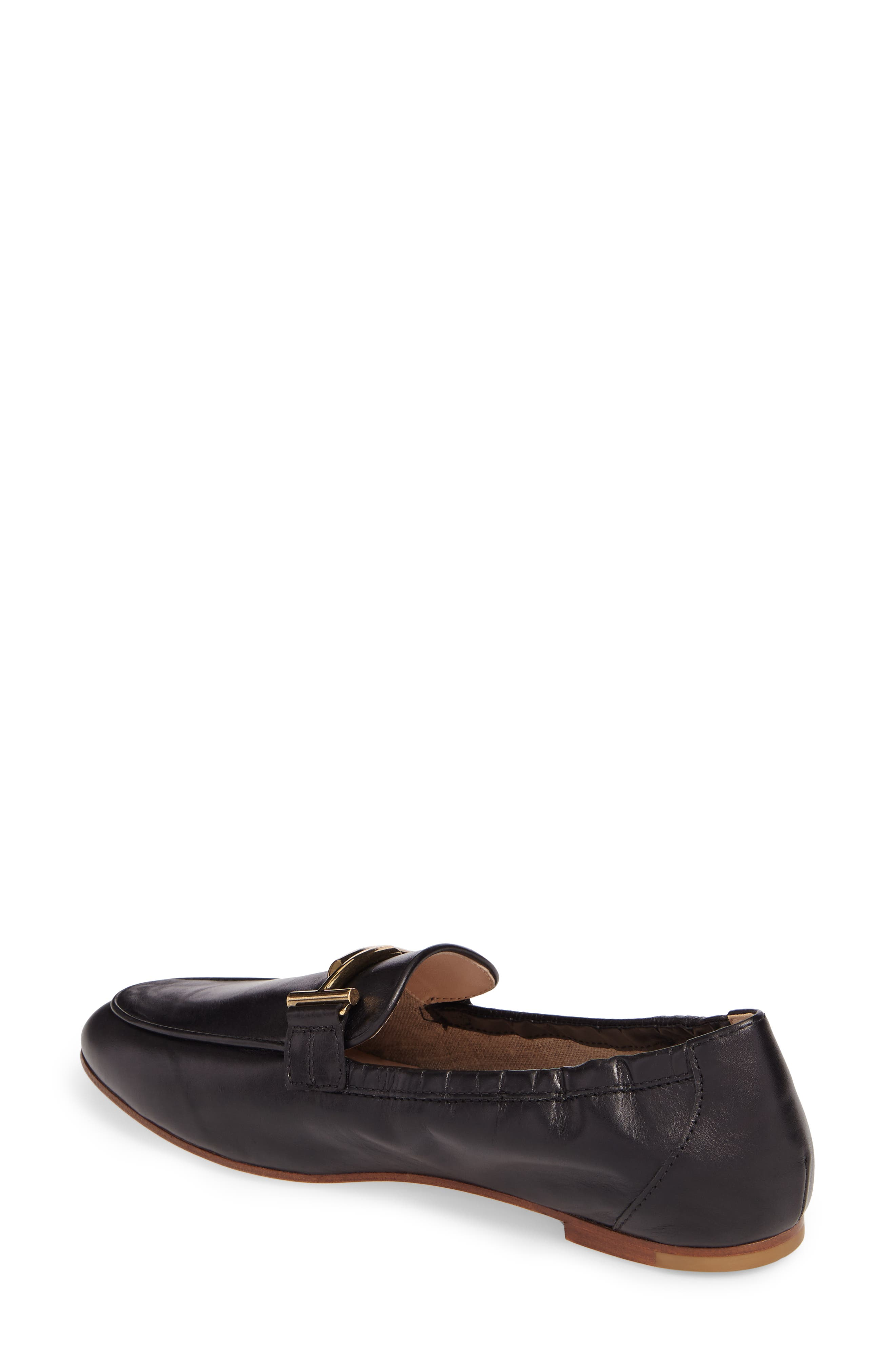 Double T Scrunch Loafer,                             Alternate thumbnail 2, color,                             Black