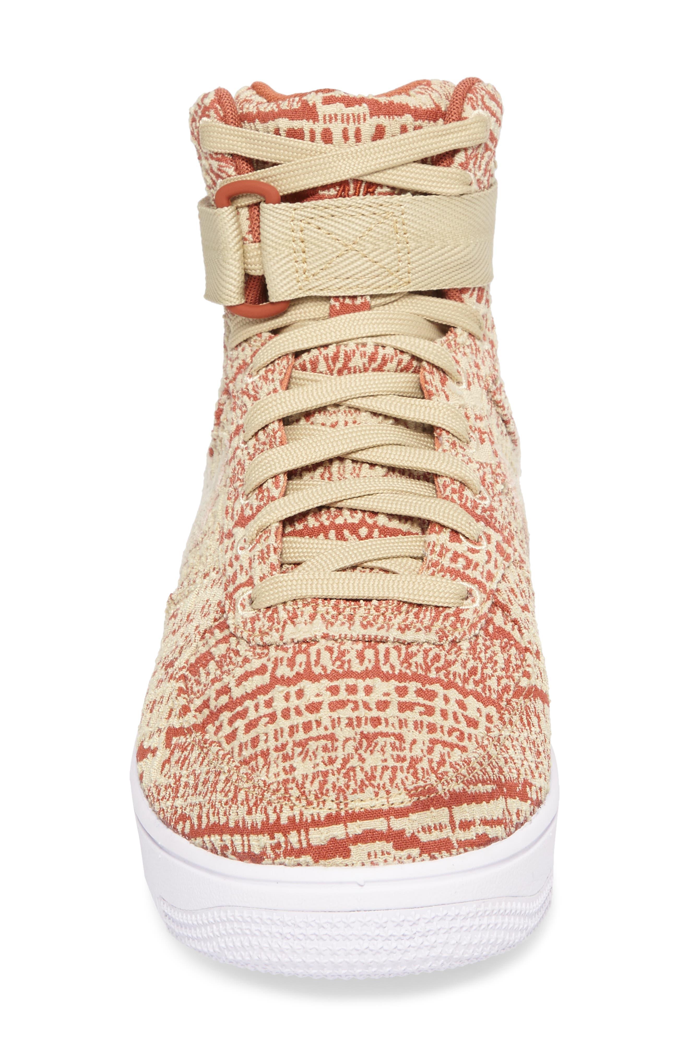 Air Force 1 Ultraforce Hi Sneaker,                             Alternate thumbnail 4, color,                             Team Gold/Dusty Peach/White