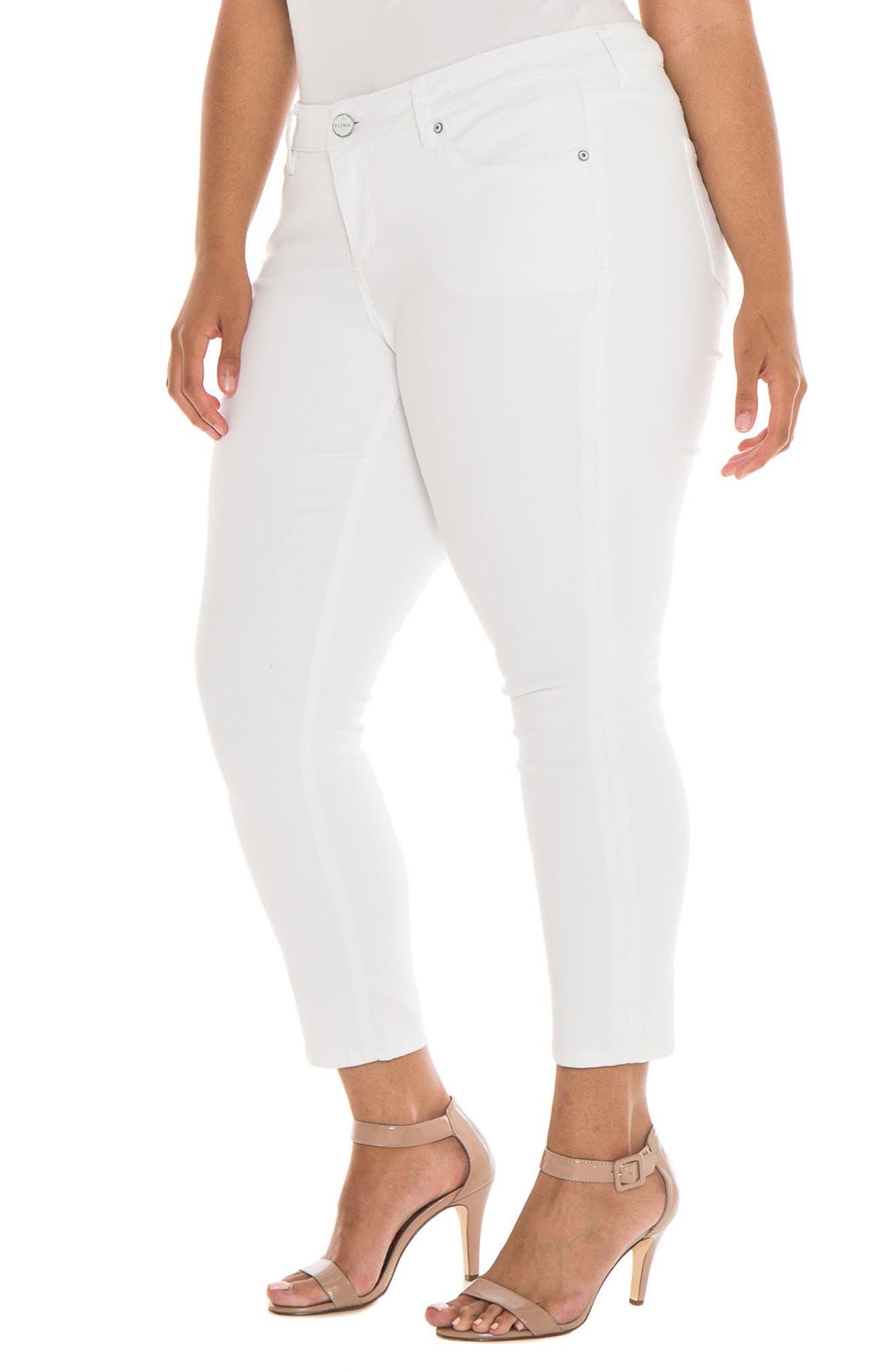 Alternate Image 1 Selected - SLINK Jeans Stretch Skinny Jeans (Charlie) (Plus Size)