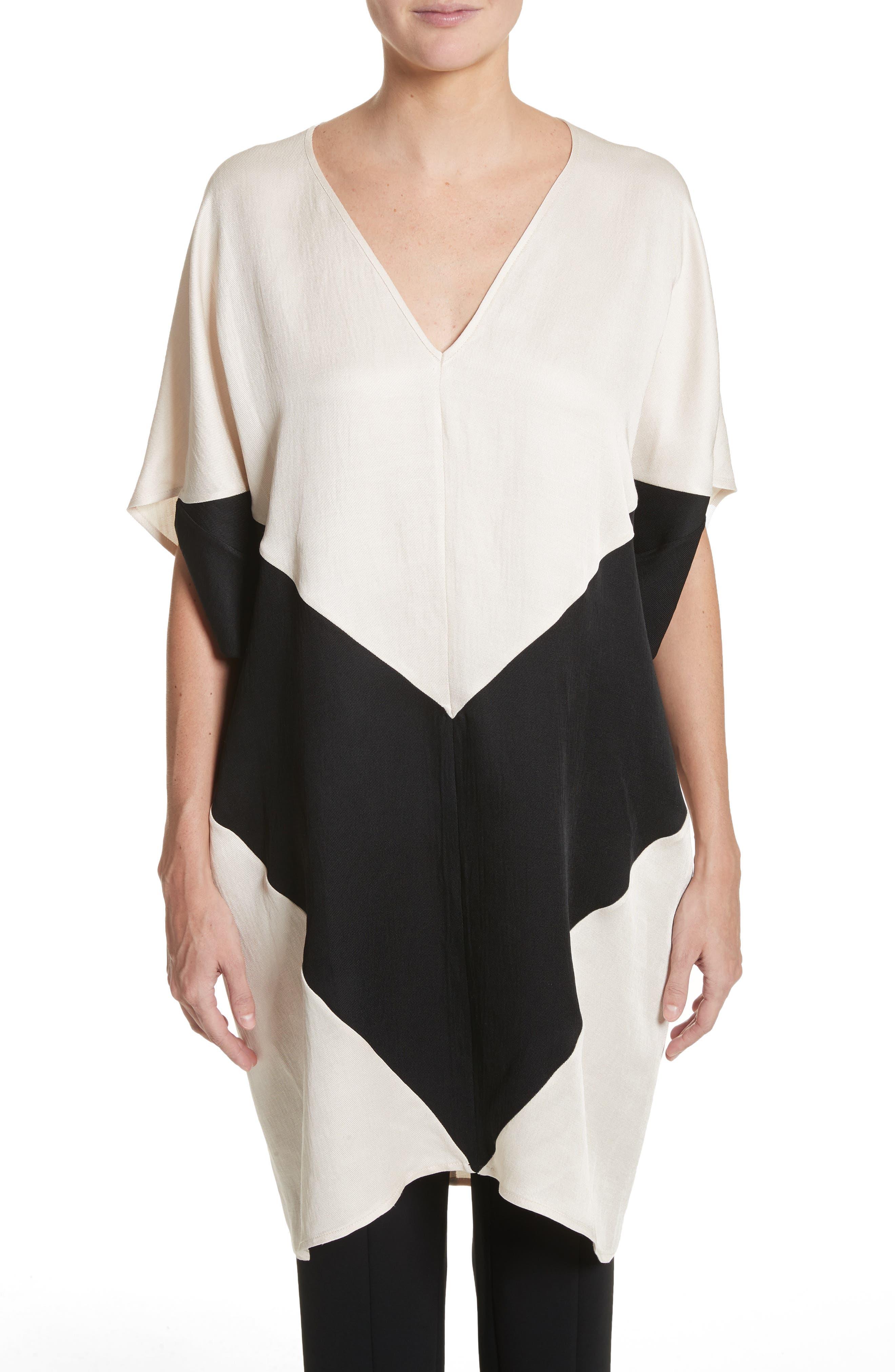 Colorblock Dress,                         Main,                         color, Black/Greige