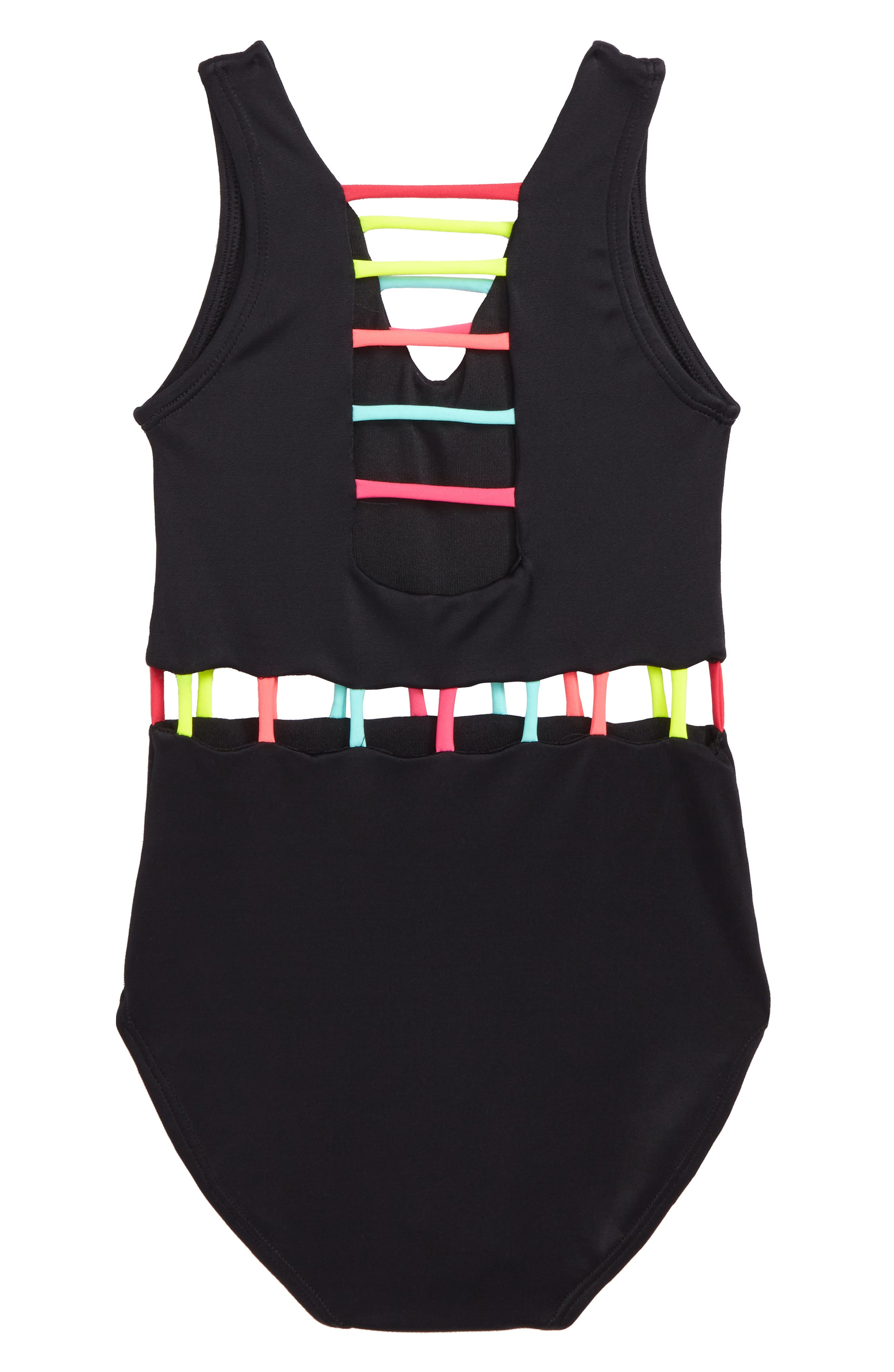 The Jade One-Piece Swimsuit,                             Alternate thumbnail 3, color,                             Black