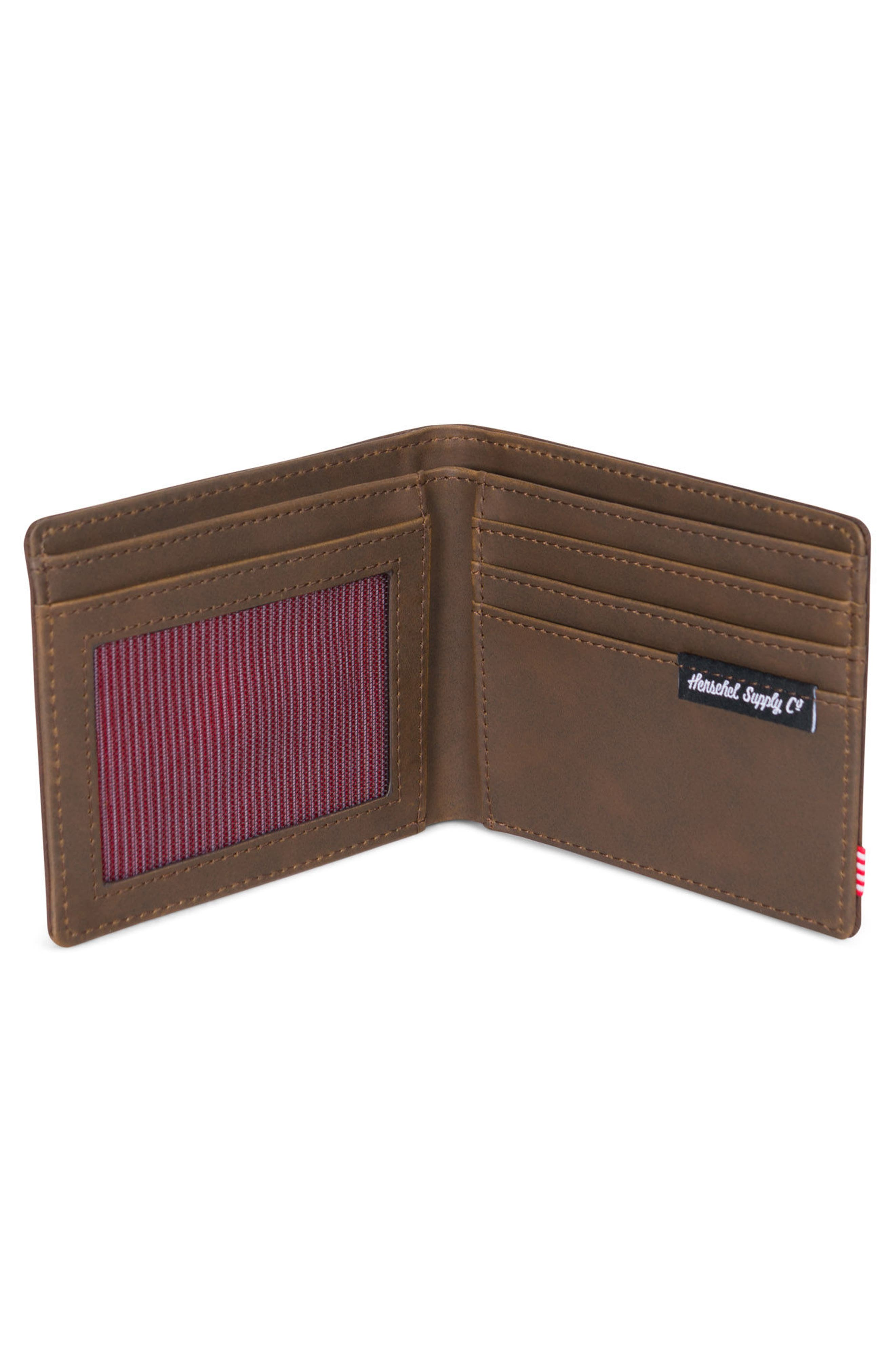 Hank Leather Wallet,                             Alternate thumbnail 2, color,                             Nubuck Leather