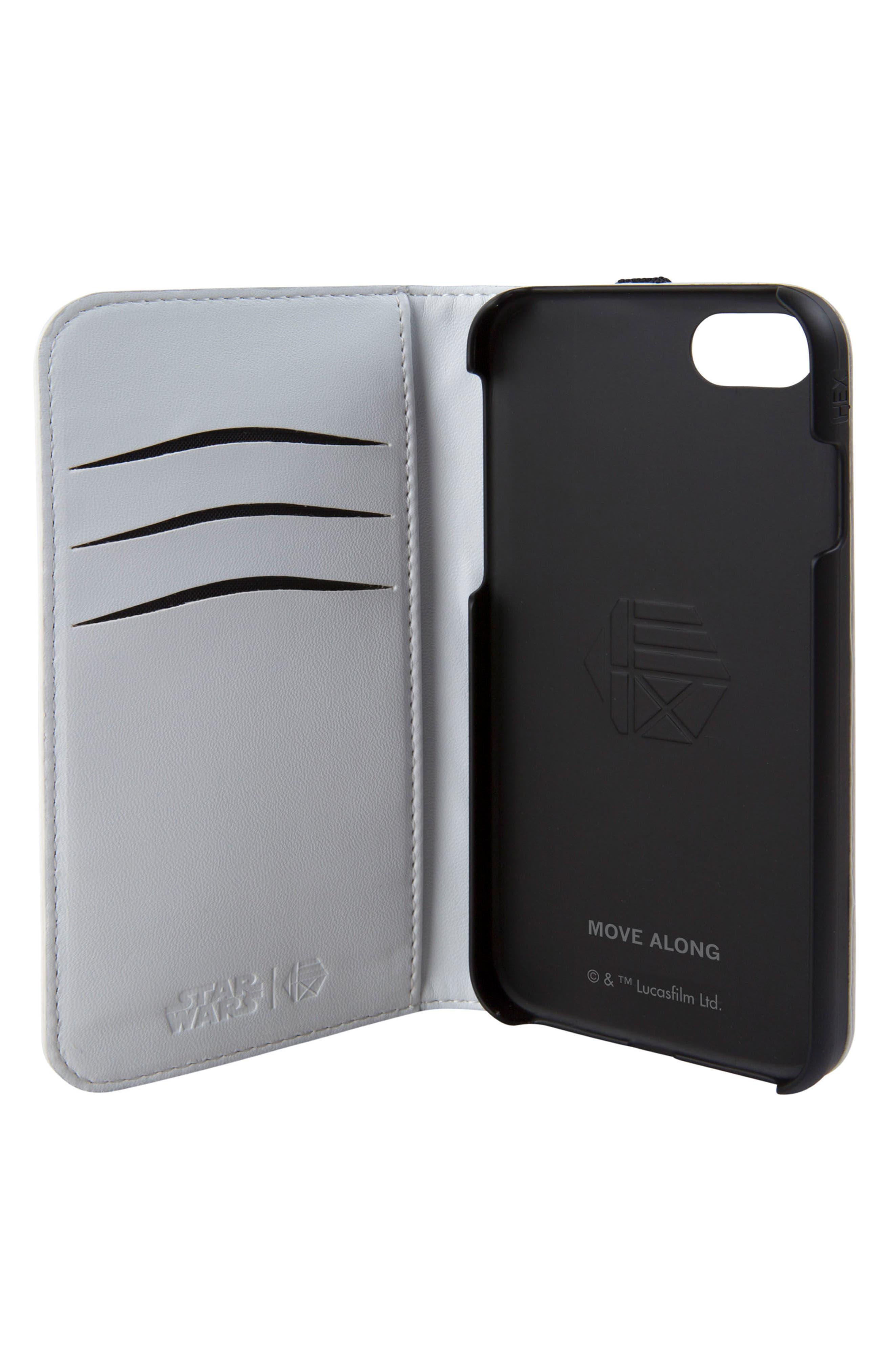 Stormtrooper iPhone 6/6s/7/8 Wallet Case,                             Alternate thumbnail 2, color,                             White