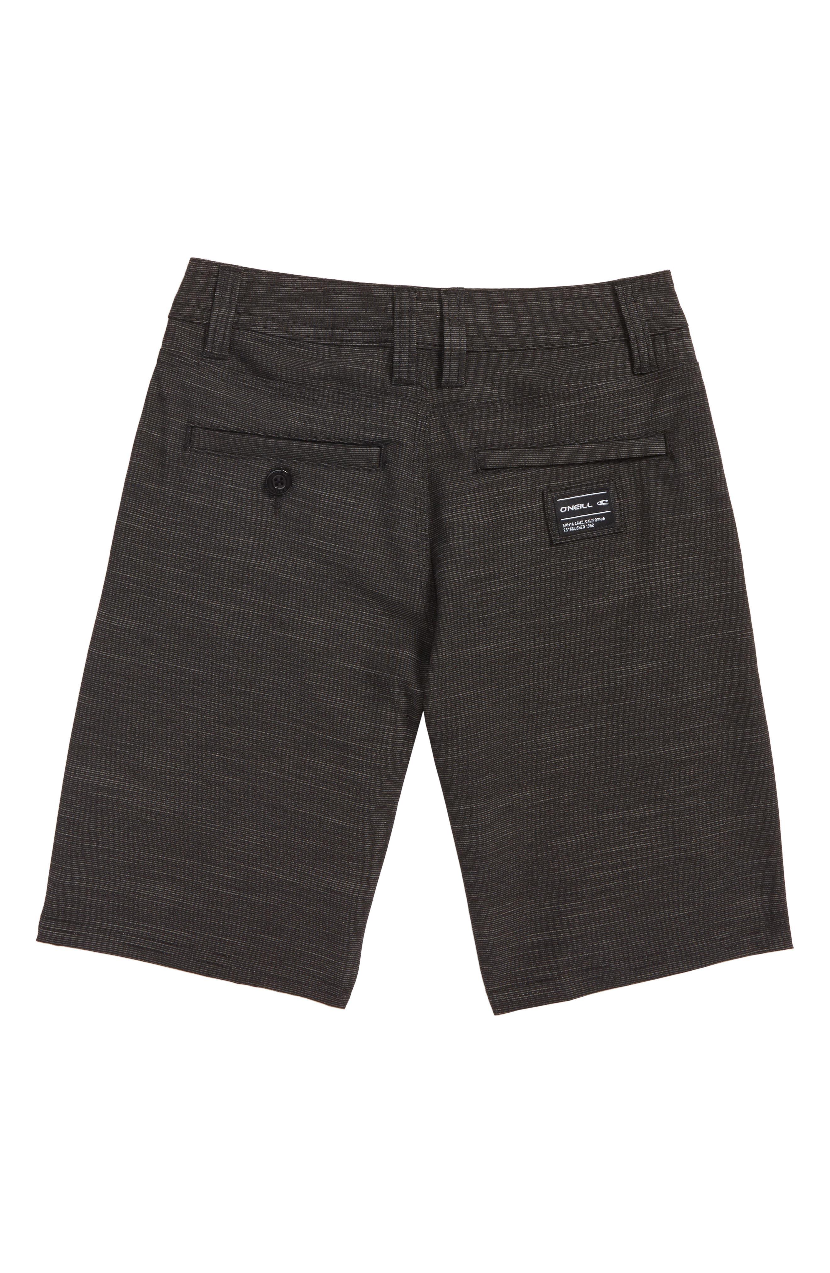 Locked Slub Hybrid Board Shorts,                             Alternate thumbnail 3, color,                             Black