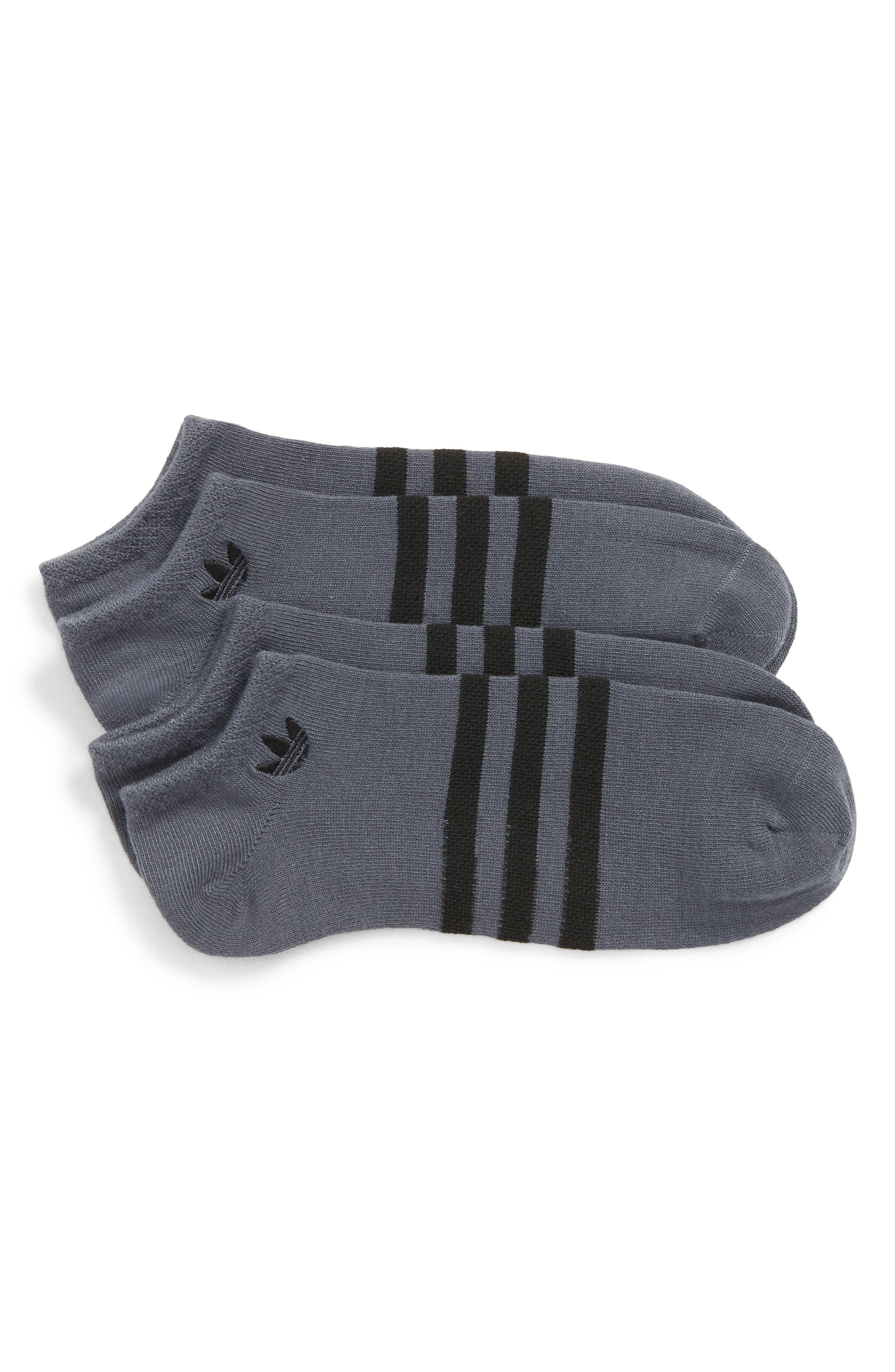 2-Pack No-Show Socks,                         Main,                         color, Onyx/ Black
