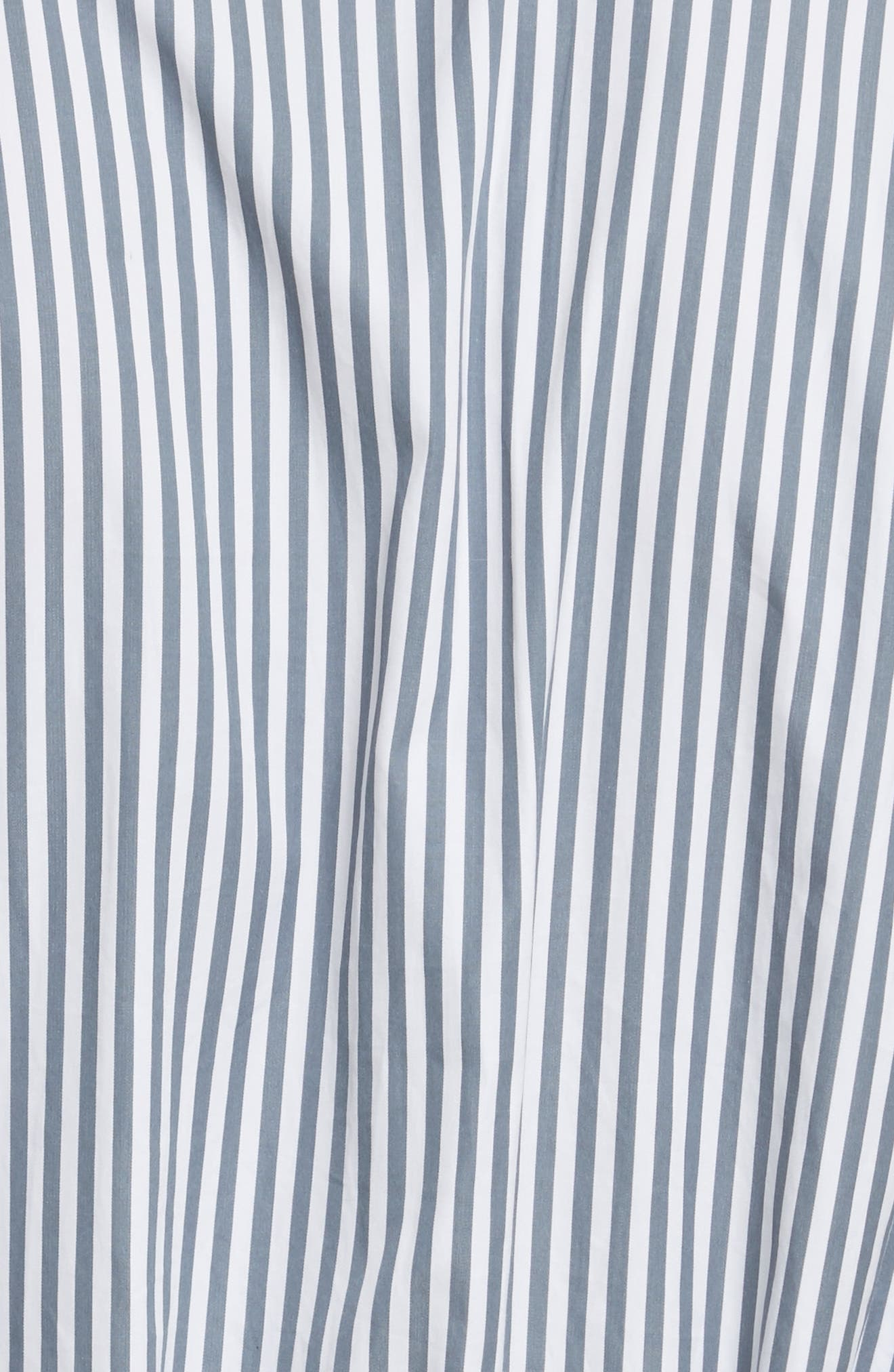 Candy Stripe Midi Dress,                             Alternate thumbnail 5, color,                             Ink