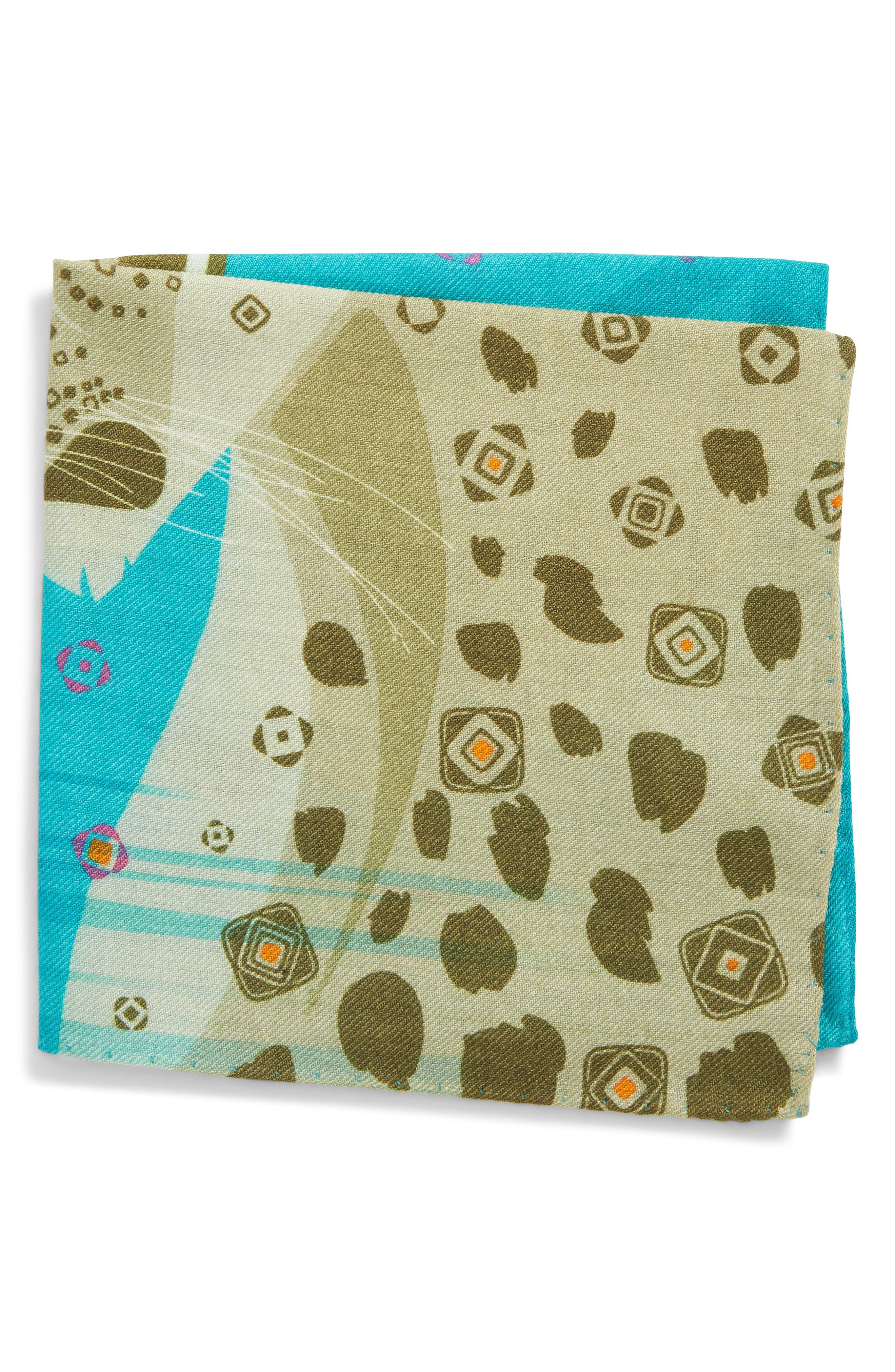 Eton Animal Print Silk Pocket Square
