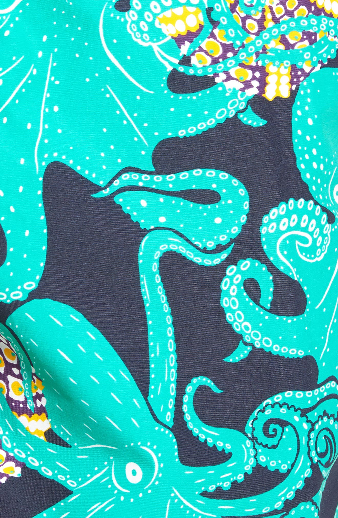 Octopus & Coral Swim Trunks,                             Alternate thumbnail 5, color,                             Navy