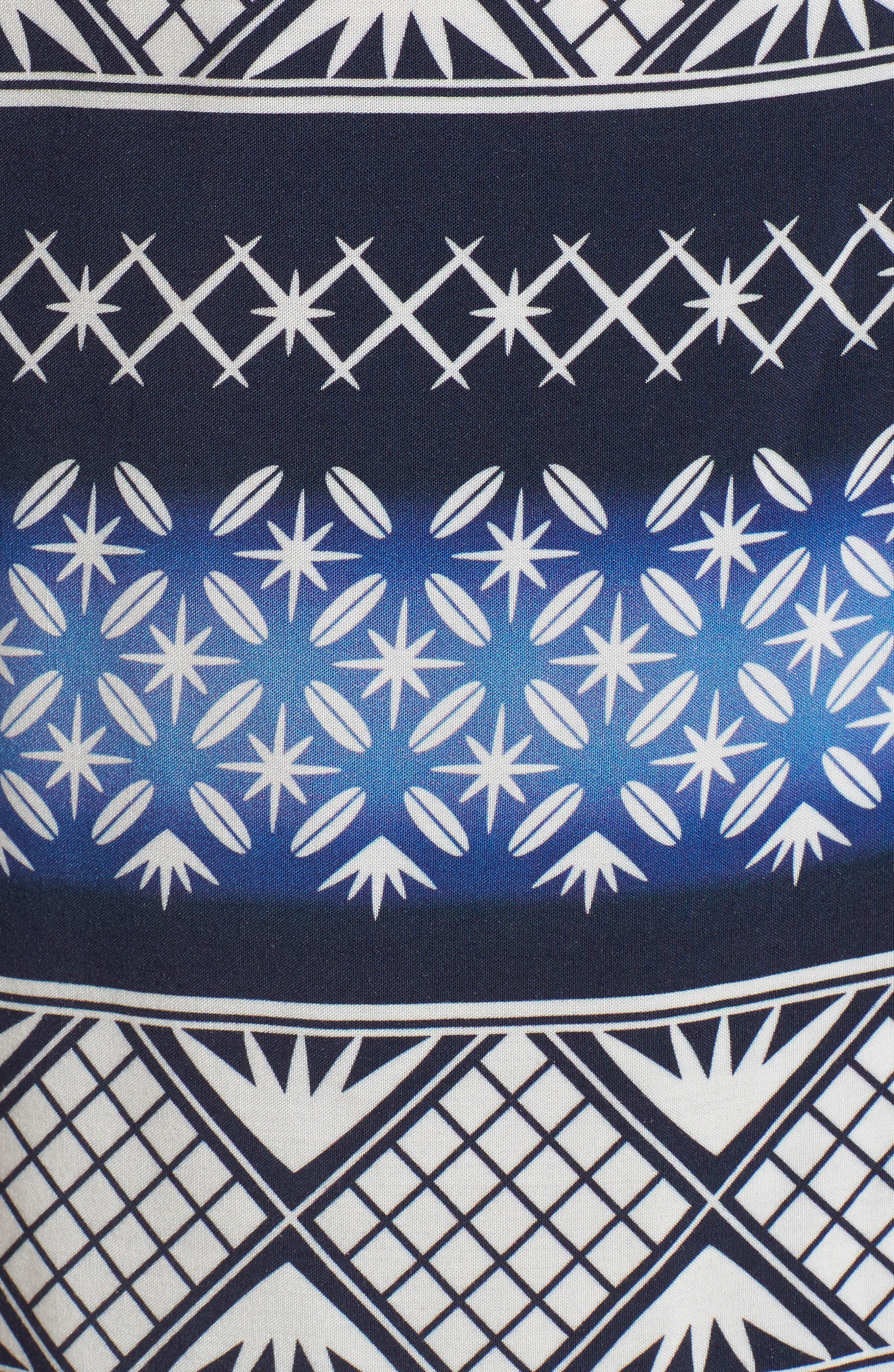 Geo Print Sport Shirt,                             Alternate thumbnail 5, color,                             Navy Blazer