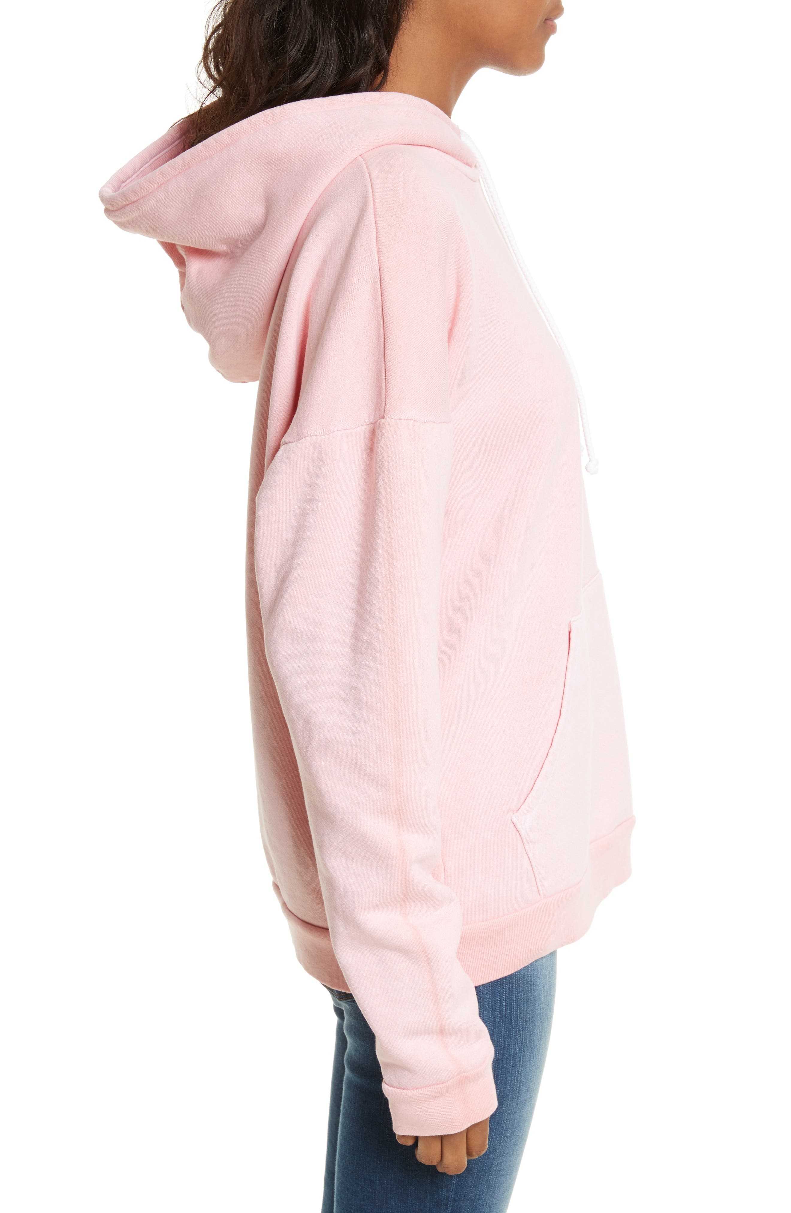 Oversize Hoodie,                             Alternate thumbnail 3, color,                             Faded Light Pink