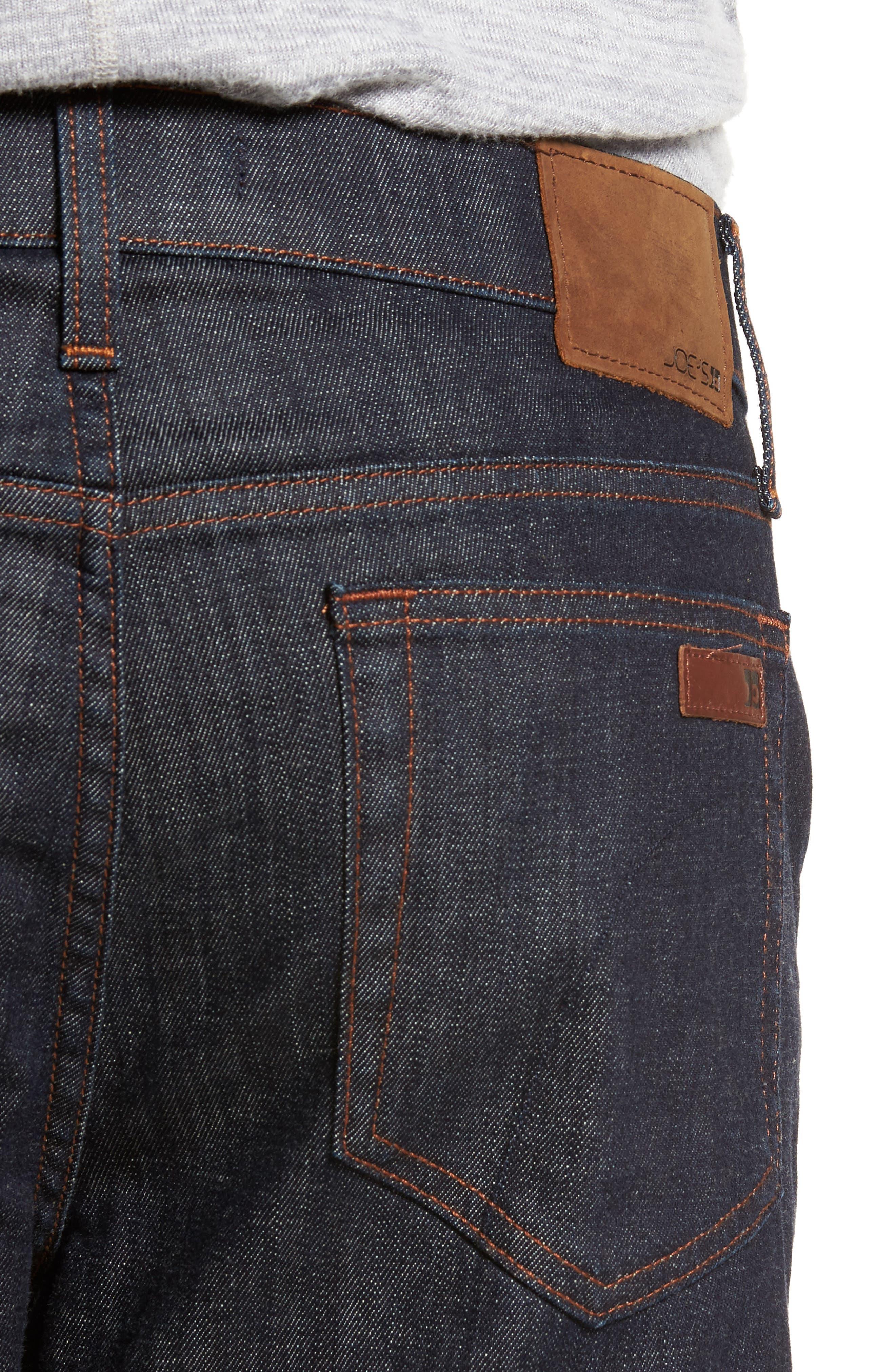 Classic Straight Leg Jeans,                             Alternate thumbnail 4, color,                             Dakota