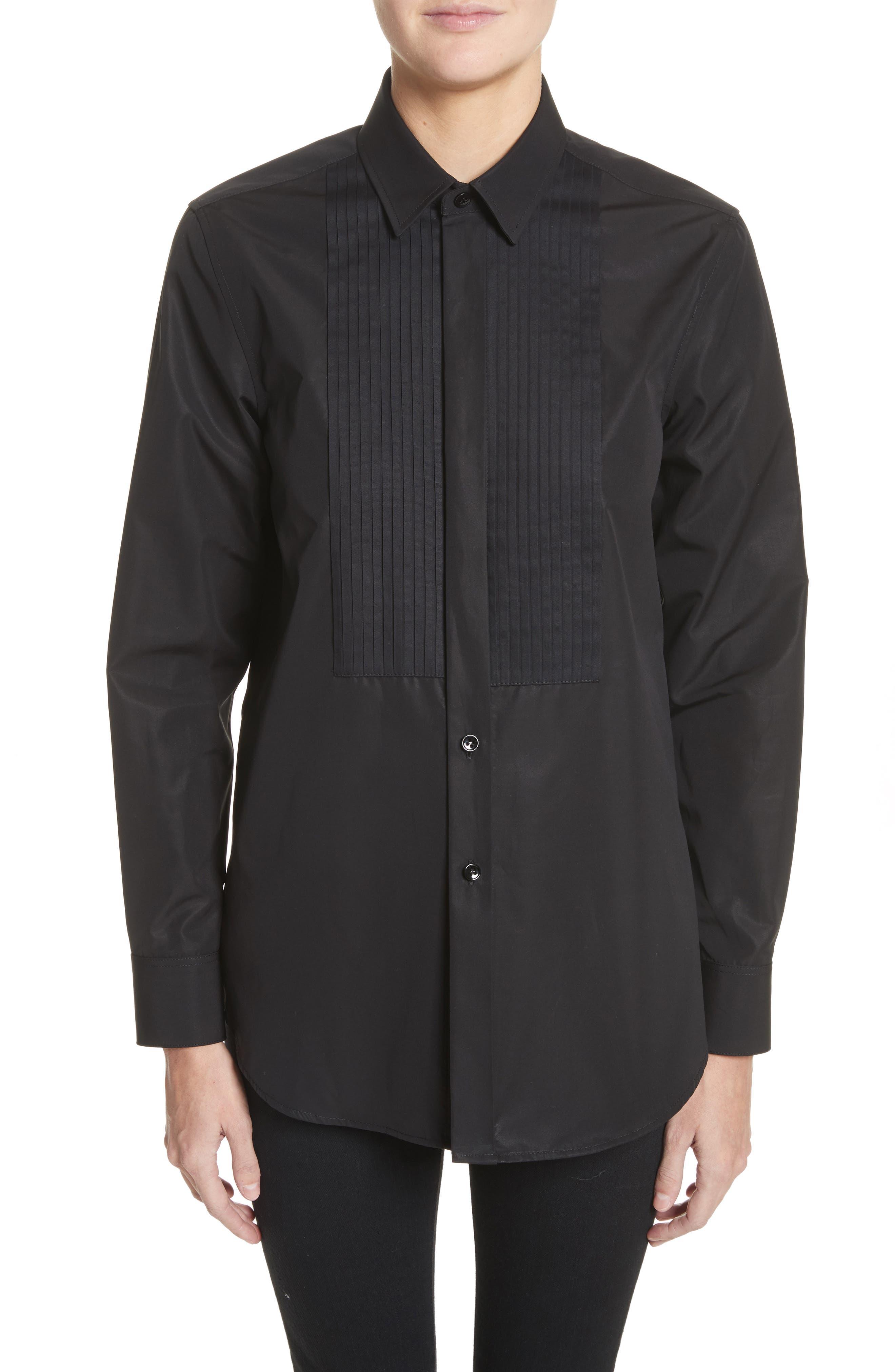 Main Image - Saint Laurent Cotton Tuxedo Shirt
