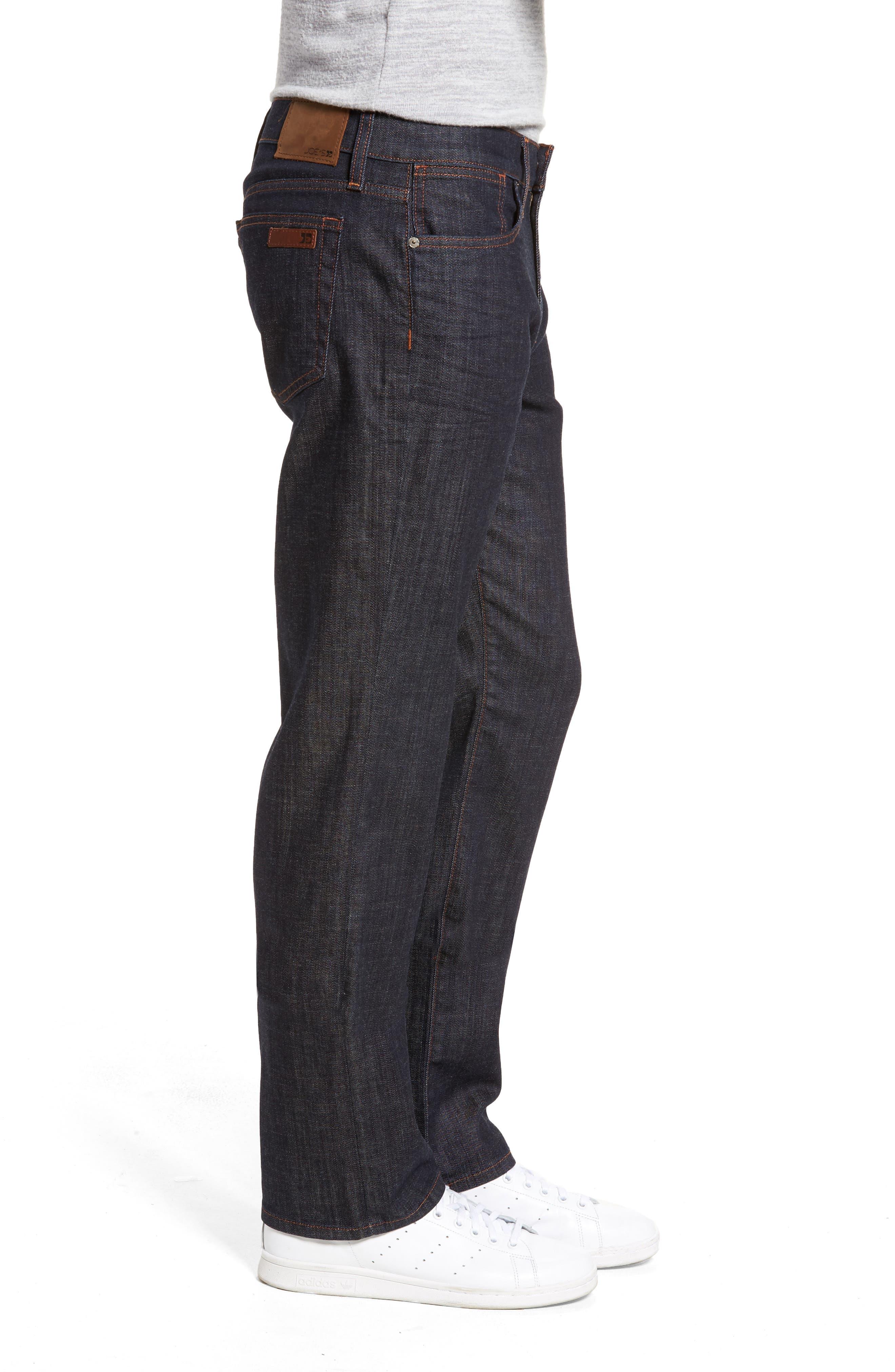 Classic Straight Leg Jeans,                             Alternate thumbnail 3, color,                             Dakota