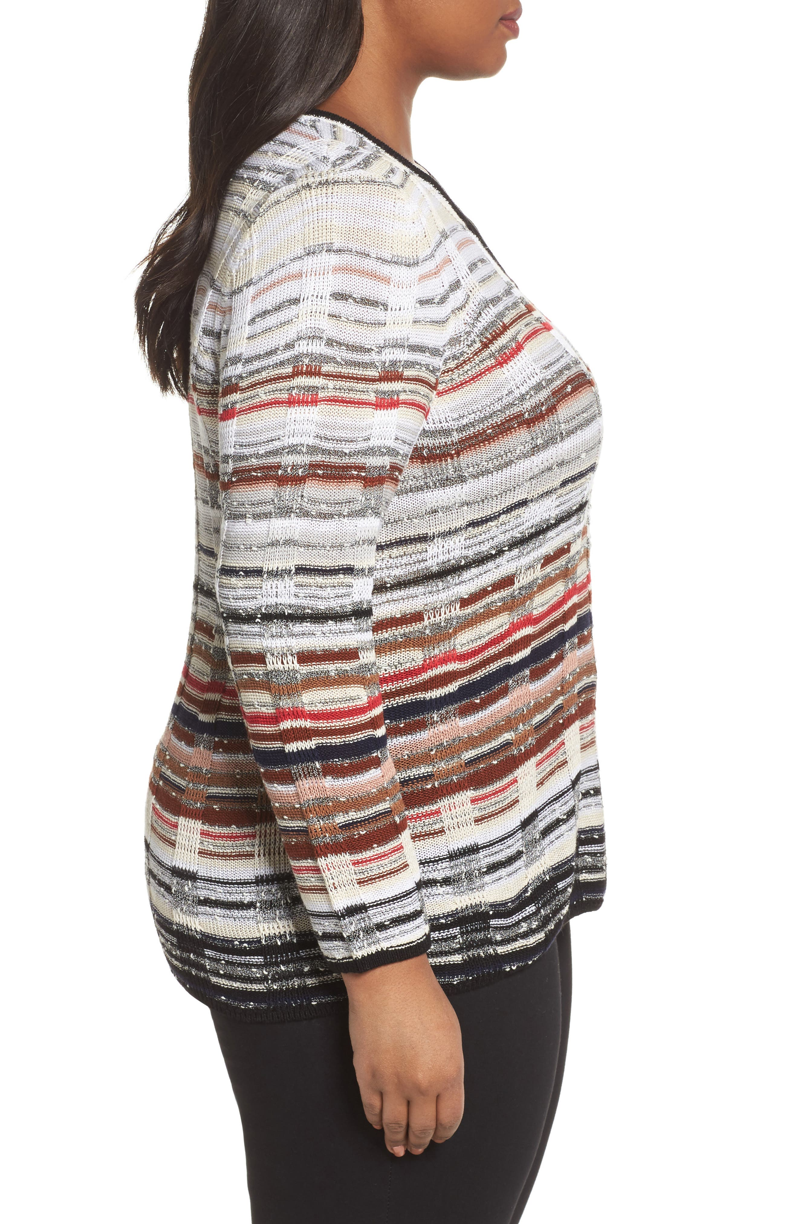 Red Hills Sweater,                             Alternate thumbnail 3, color,                             Multi