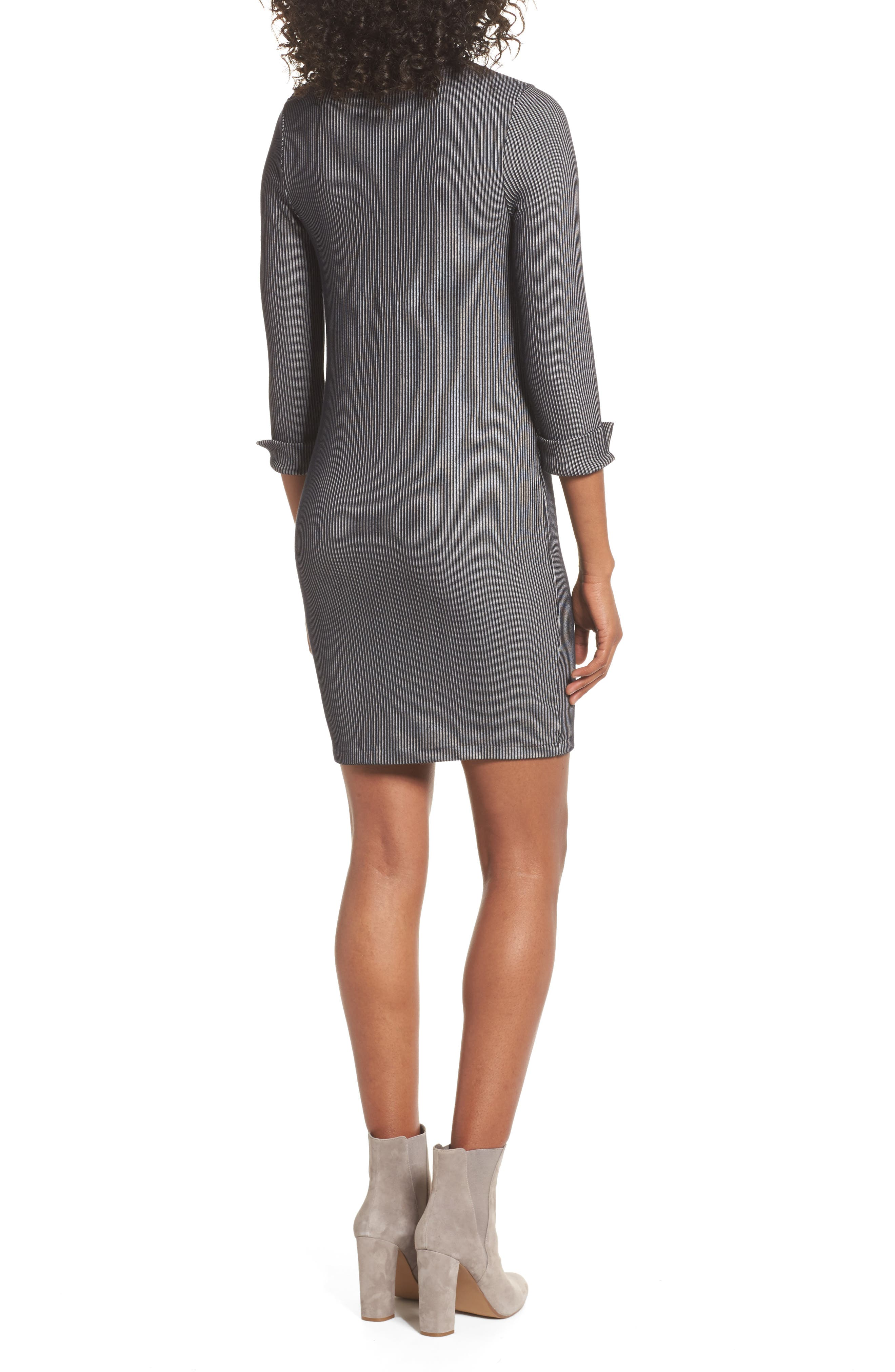 Alternate Image 2  - French Connection Rosario Jersey Body-Con Dress