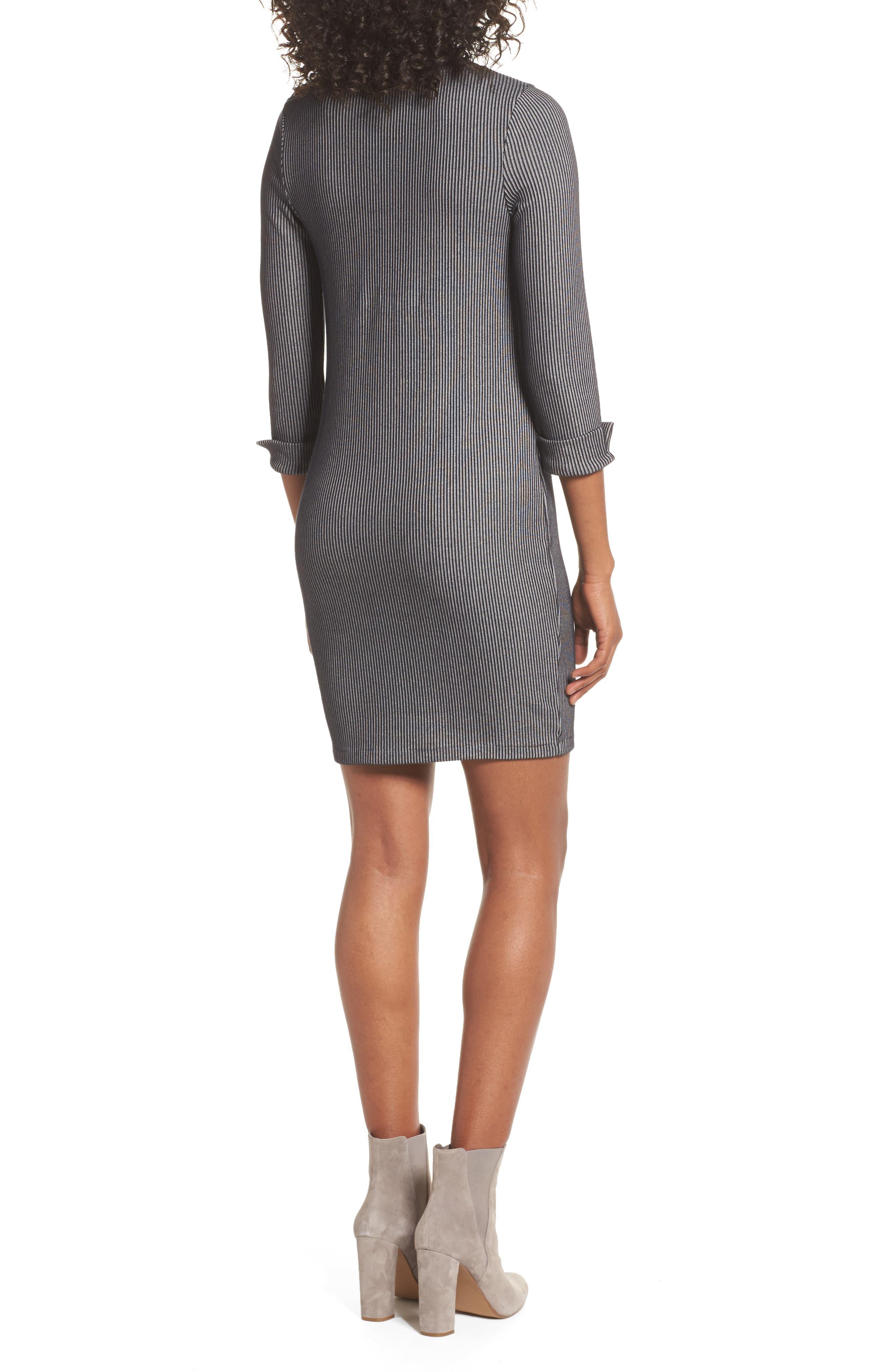 Rosario Jersey Body-Con Dress,                             Alternate thumbnail 2, color,                             Utility Blue/ Linen White