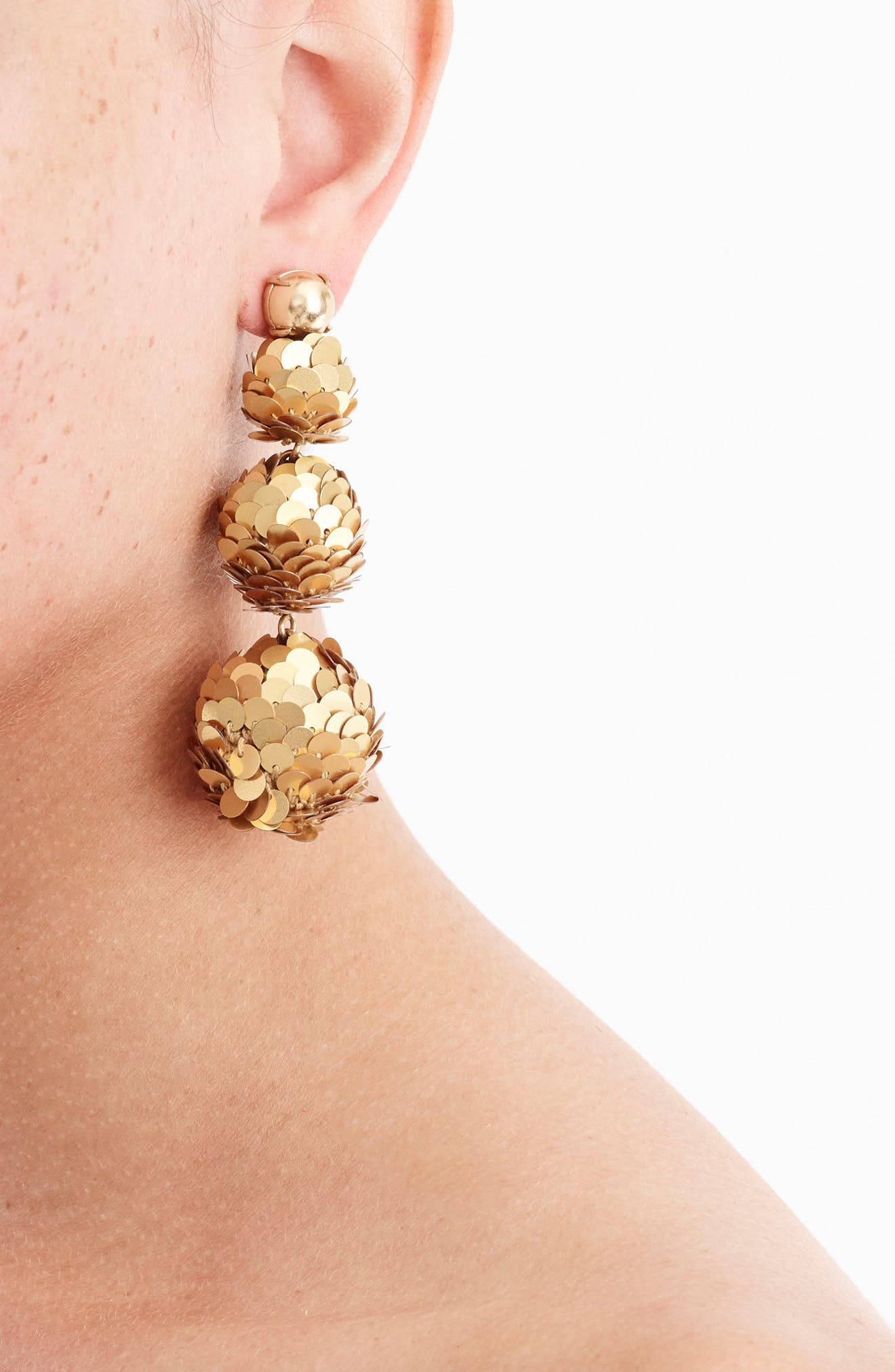 Alternate Image 2  - J.Crew Sequin Ball Drop Earrings