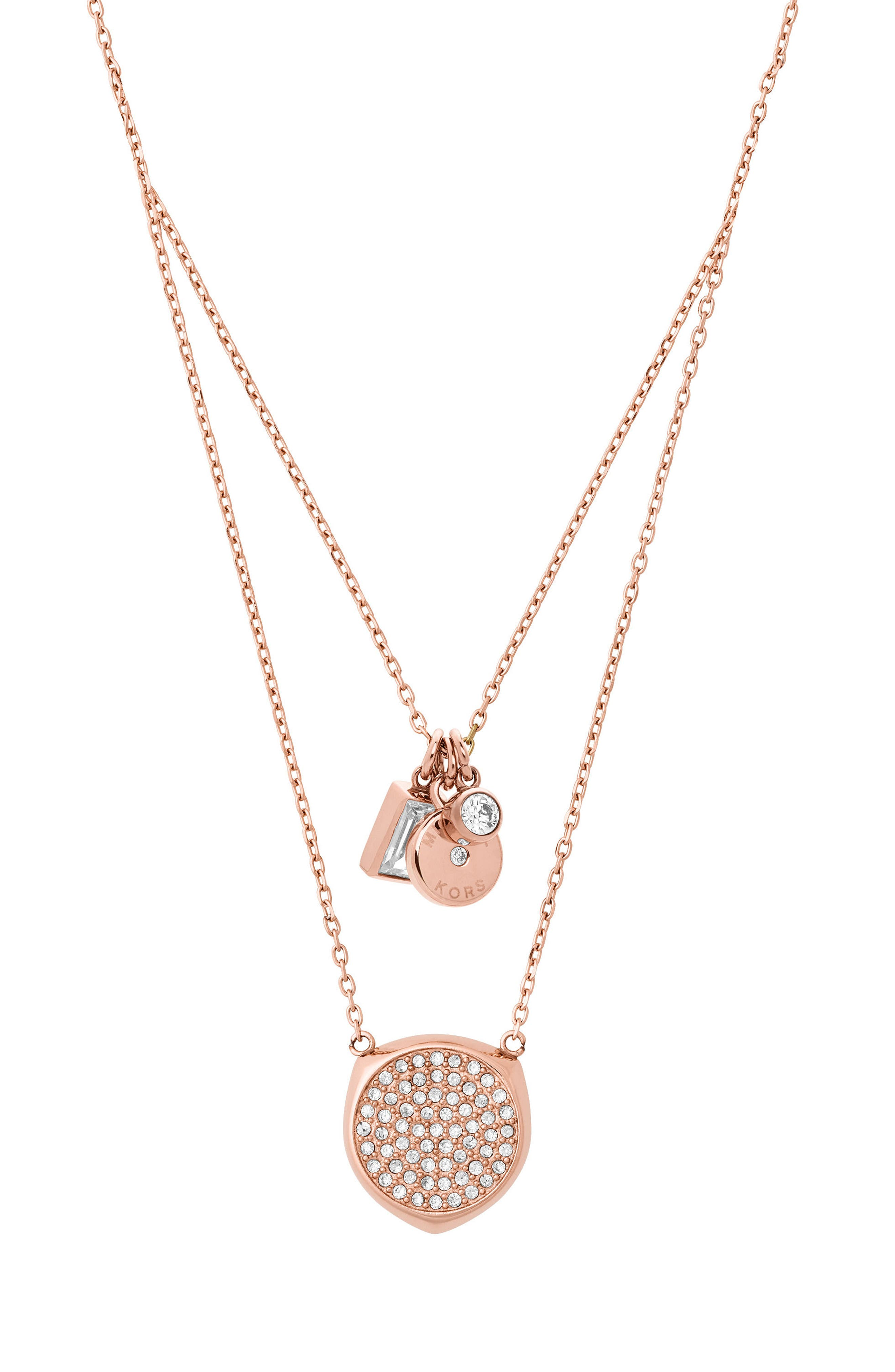 Charm Pendant Necklace,                             Alternate thumbnail 2, color,                             Rose Gold