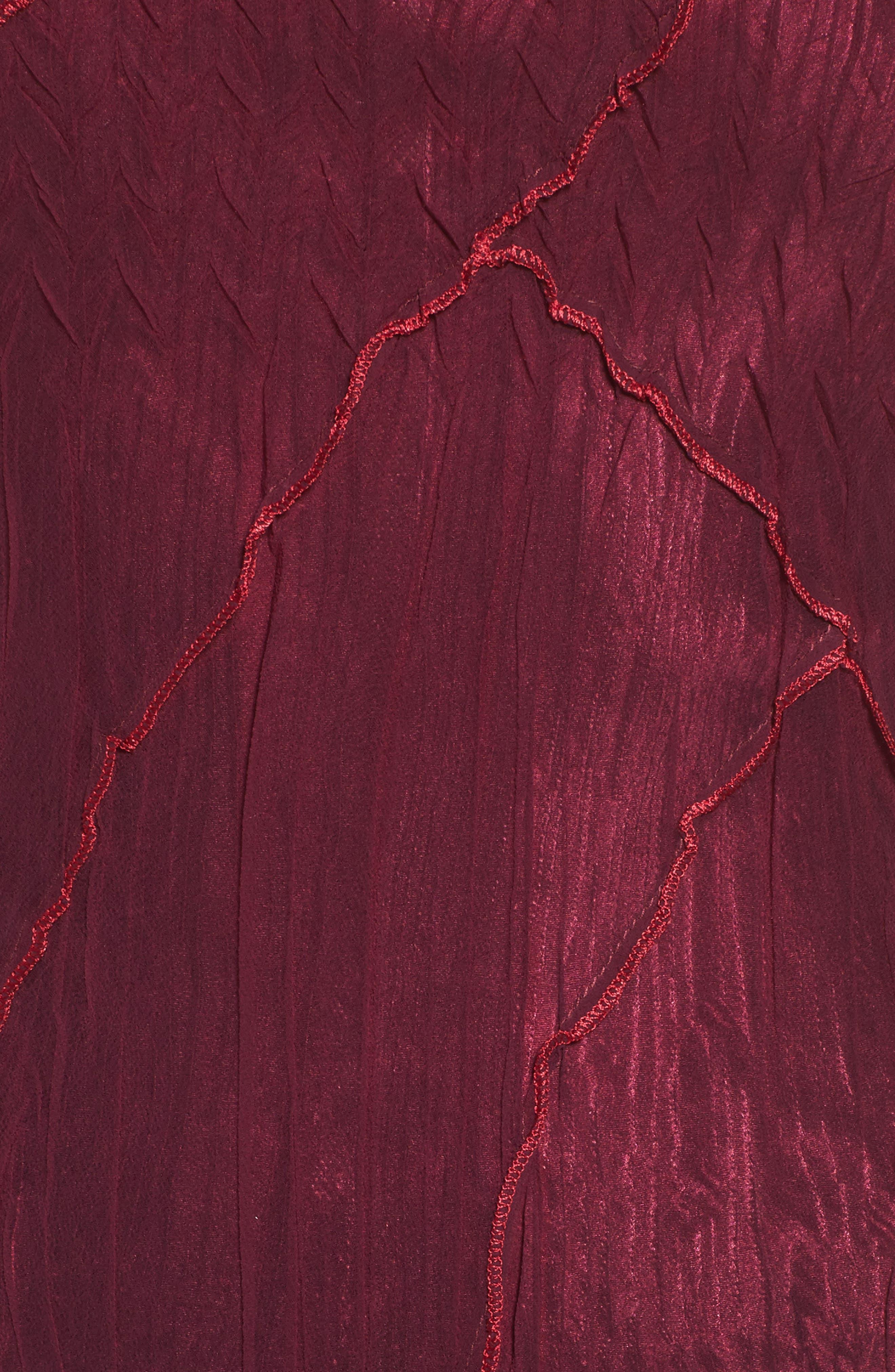 Chiffon A-Line Dress,                             Alternate thumbnail 5, color,                             Red Plum Blue Ombre