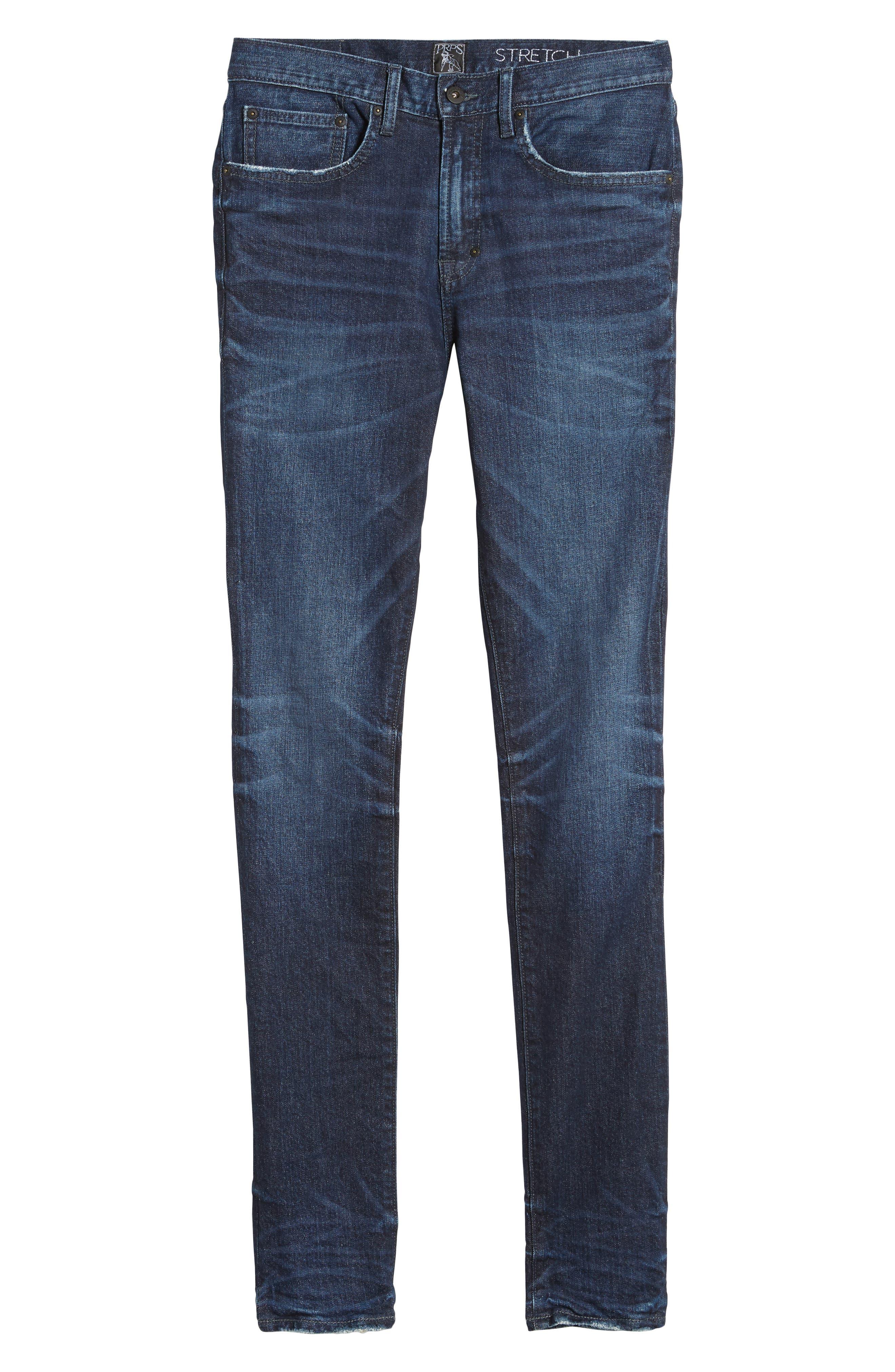 Windsor Slim Fit Jeans,                             Alternate thumbnail 6, color,                             Dark Blue