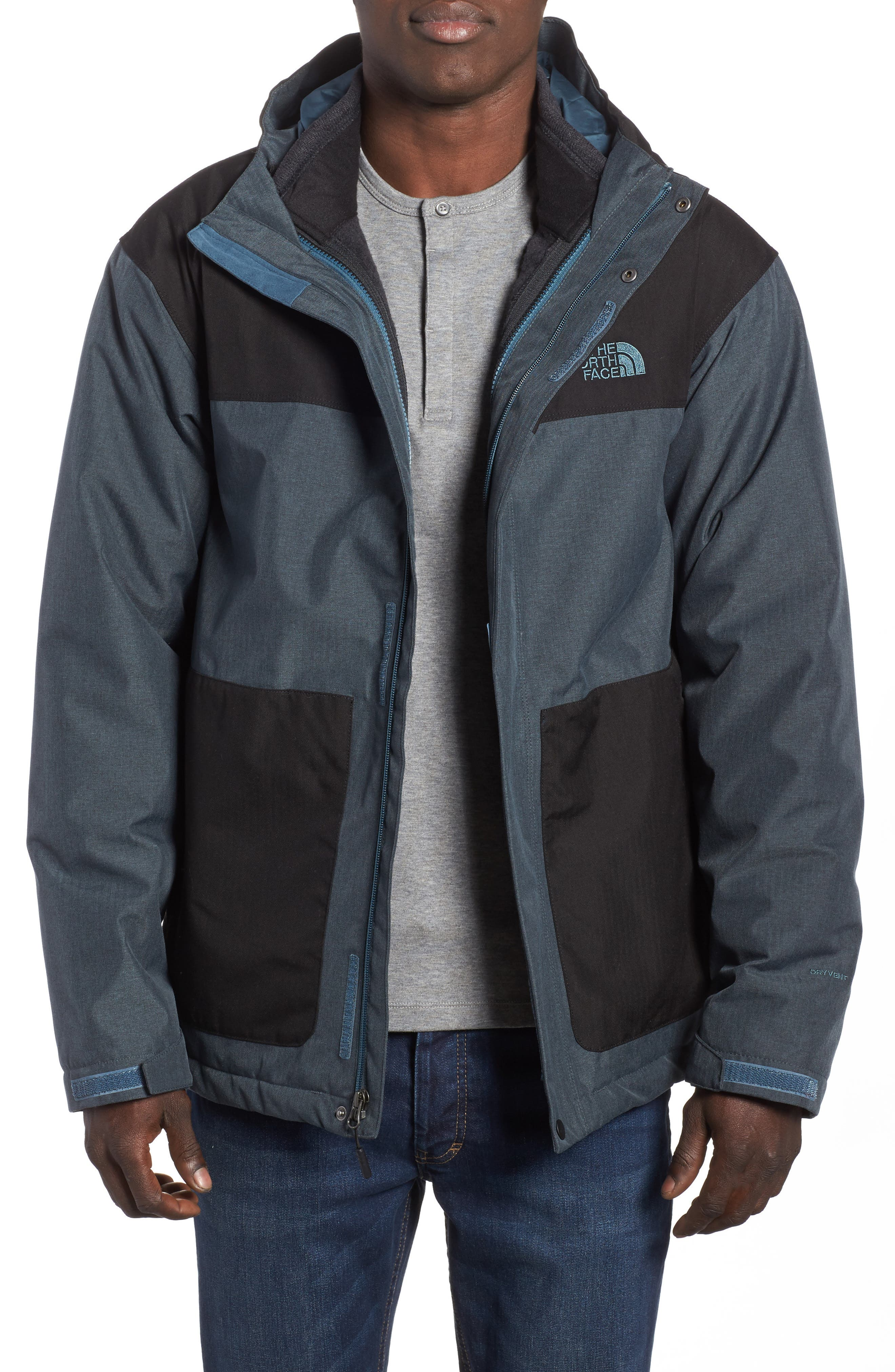 Fordyce TriClimate<sup>®</sup> 3-in-1 Waterproof Jacket,                         Main,                         color, Conquer Blue/ Black Heather