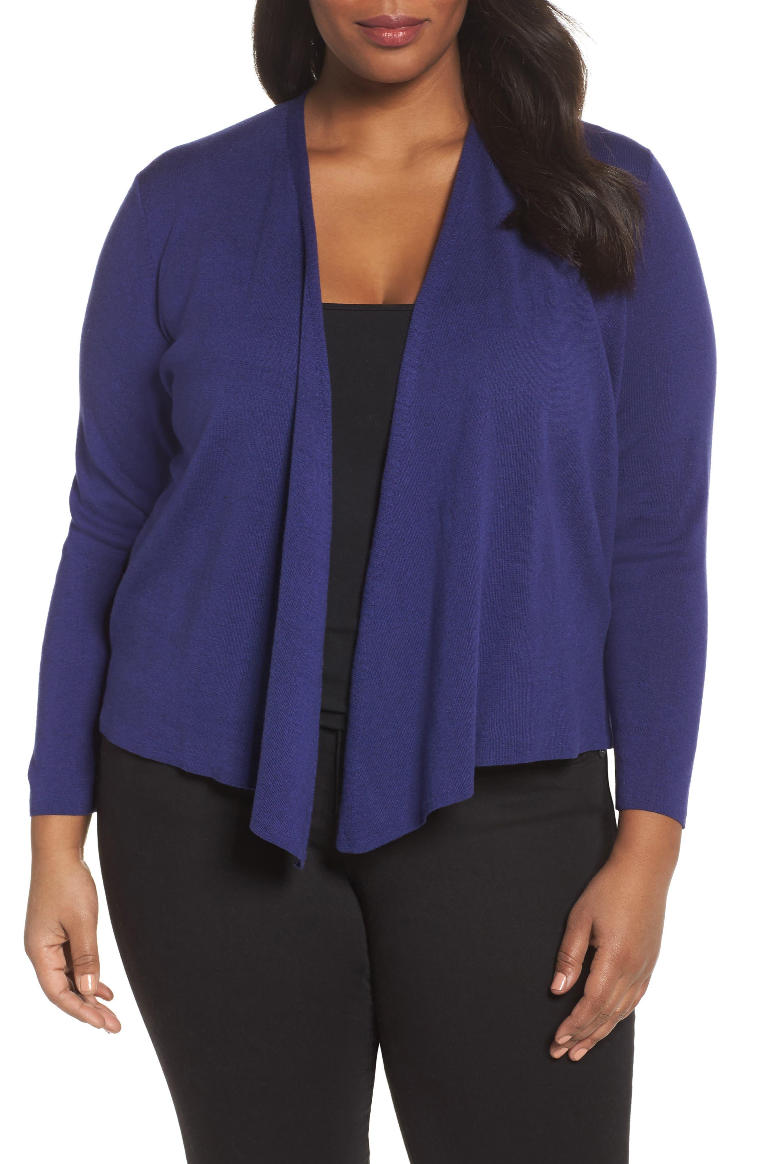 4-Way Convertible Cardigan,                         Main,                         color, Electric Blue
