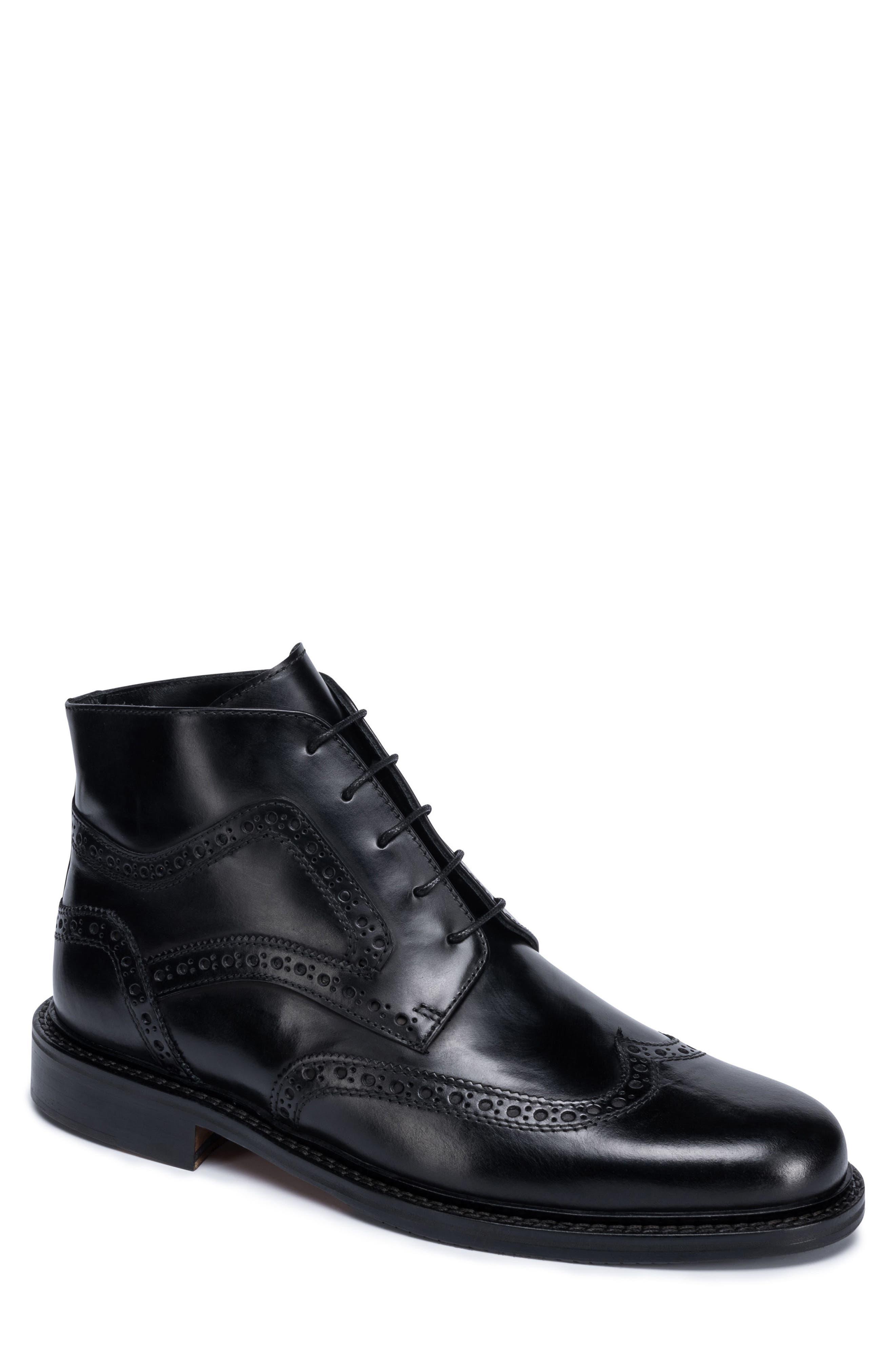 Toscano Wingtip Boot,                         Main,                         color, Nero
