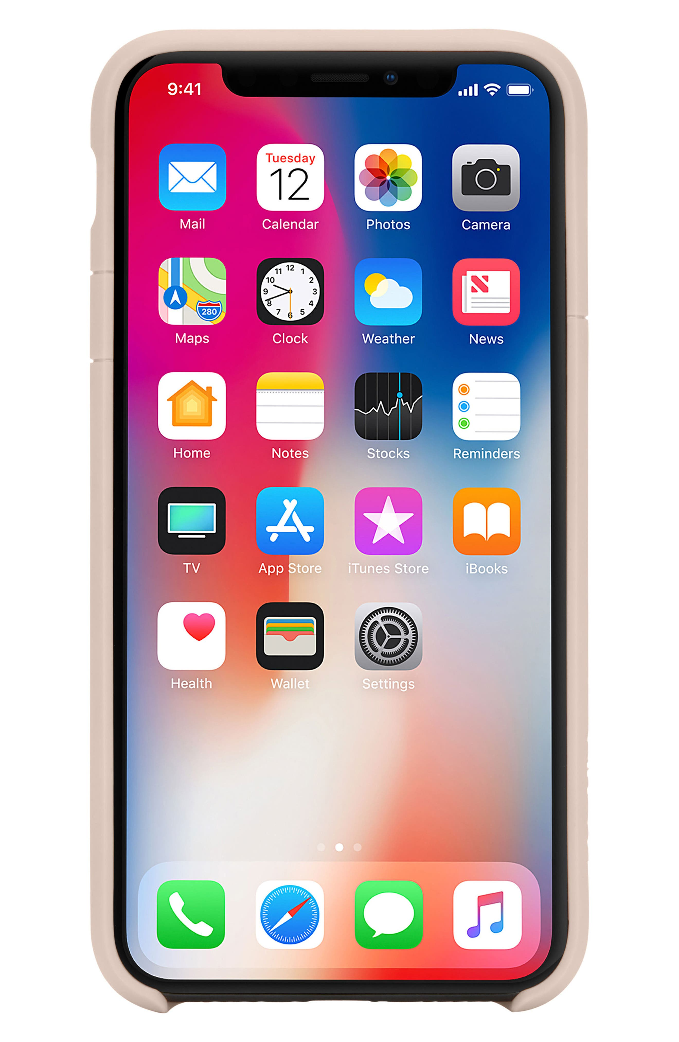 Lite iPhone iPhone X Case,                             Alternate thumbnail 8, color,                             Rose Gold
